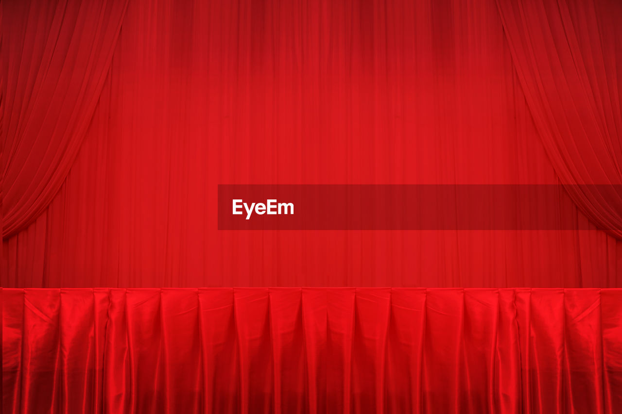 Full Frame Shot Of Red Curtain