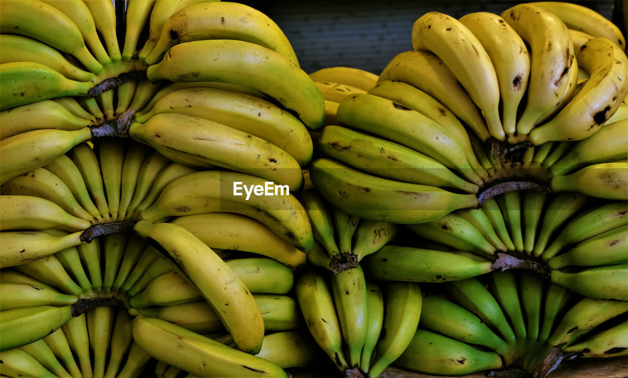 Close-up of fresh bananas for sale in market