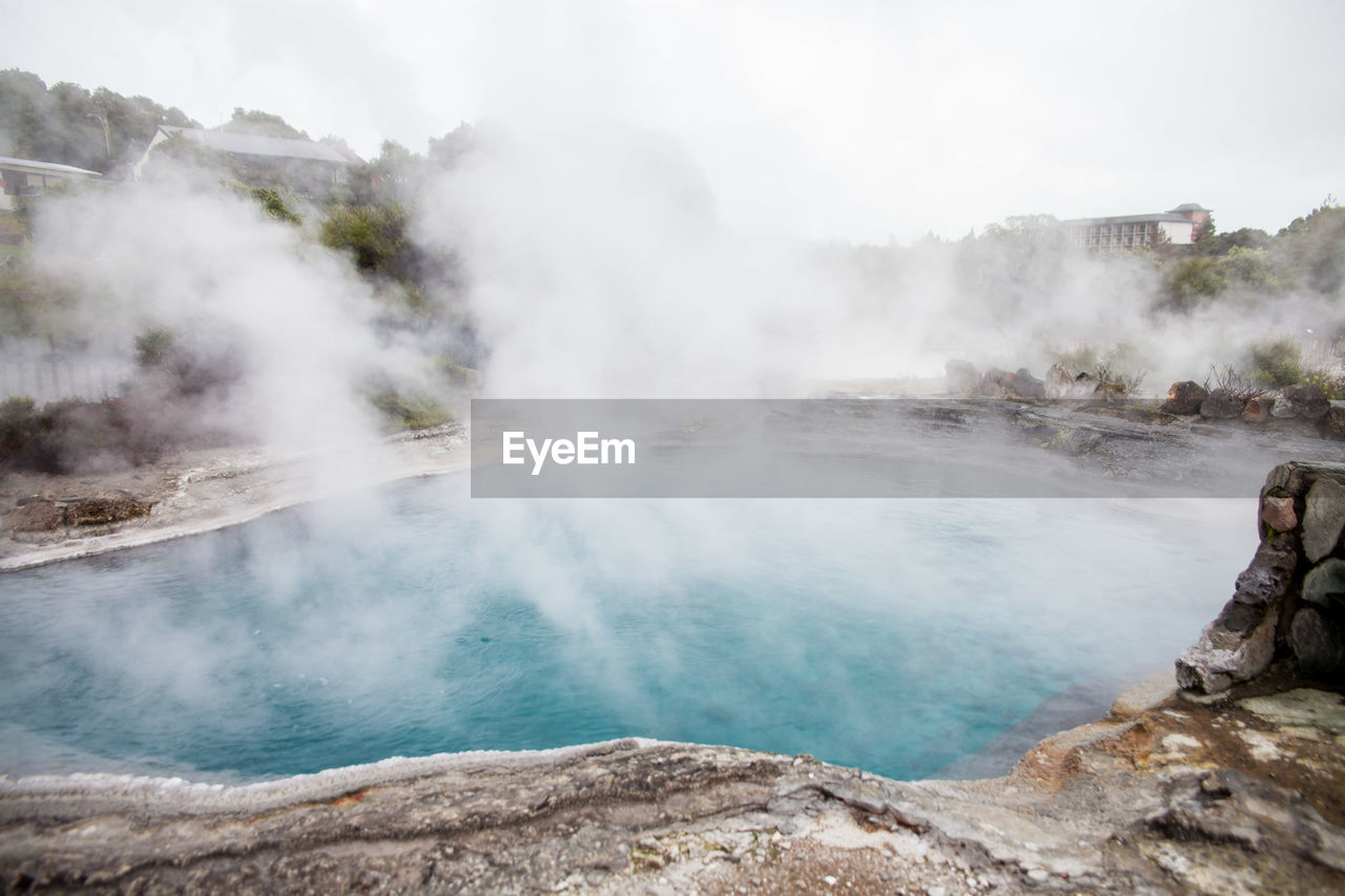 scenics - nature, beauty in nature, water, nature, non-urban scene, steam, tranquility, tranquil scene, geology, power in nature, rock, day, smoke - physical structure, heat - temperature, rock - object, environment, physical geography, no people, mountain, hot spring, outdoors, turquoise colored