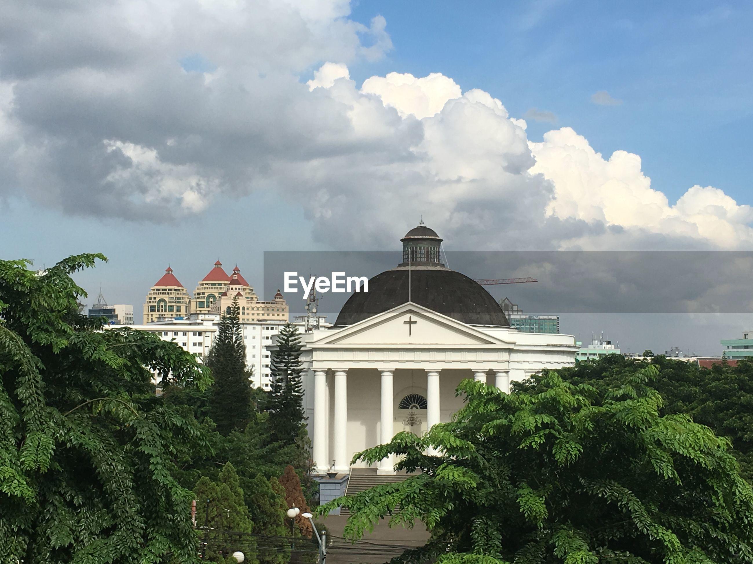 St emmanuel church against sky in city