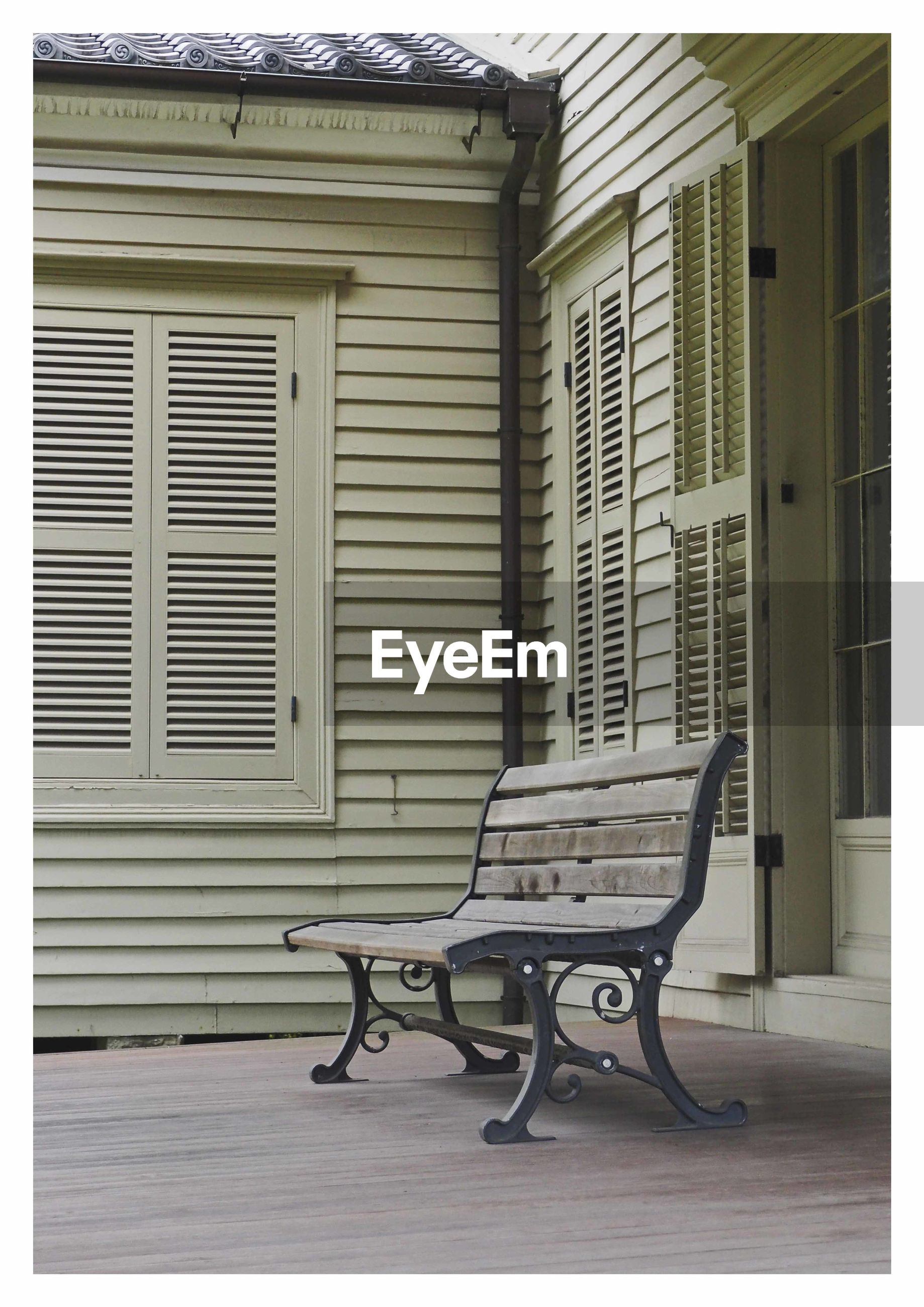 shutter, no people, built structure, architecture, chair, old-fashioned, day, building exterior, outdoors