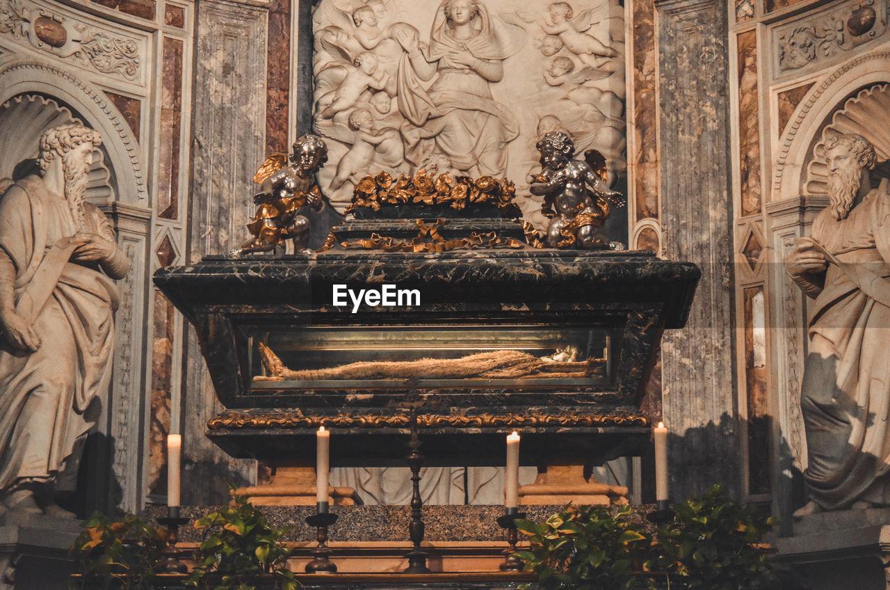 Altar On Wall In Church
