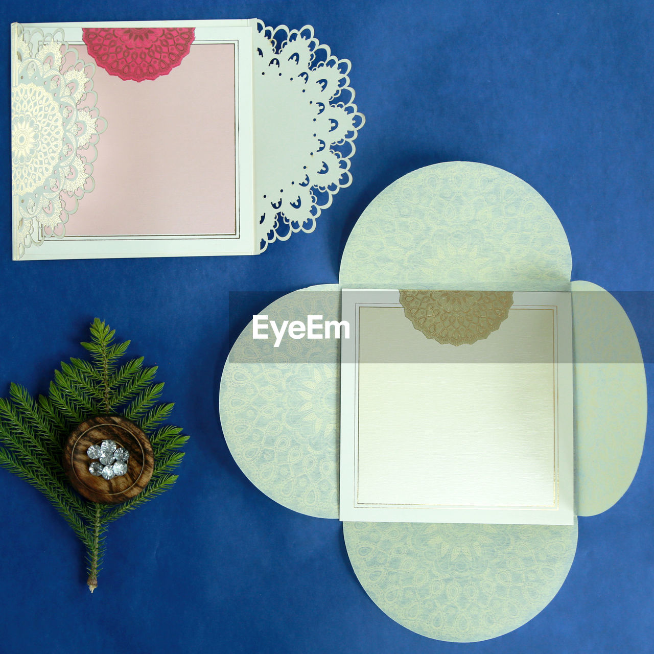 still life, table, no people, indoors, directly above, blue, close-up, freshness, day