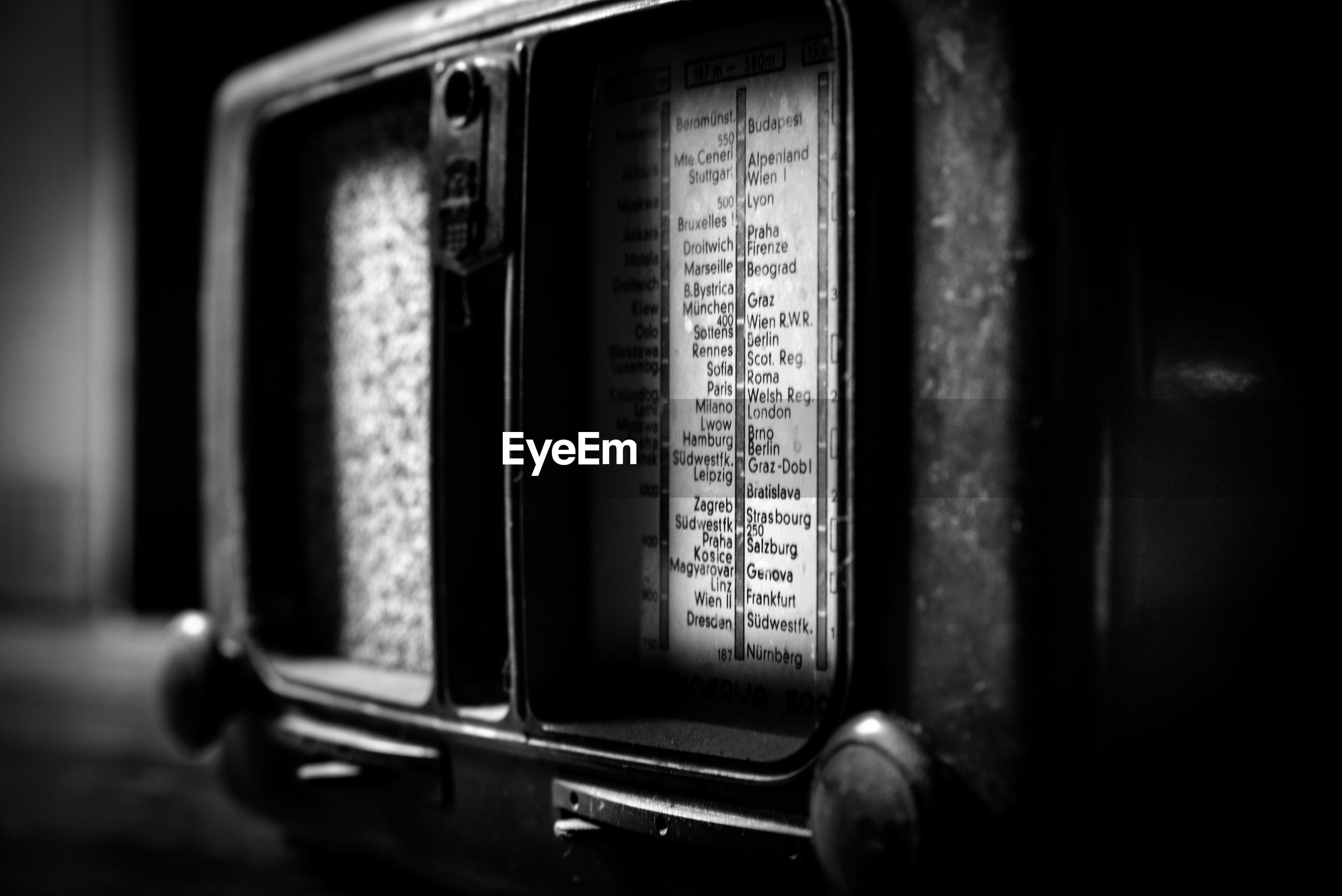 text, close-up, communication, no people, western script, selective focus, indoors, number, old, retro styled, radio, history, technology, antique, still life, the past, sign, analog, metal
