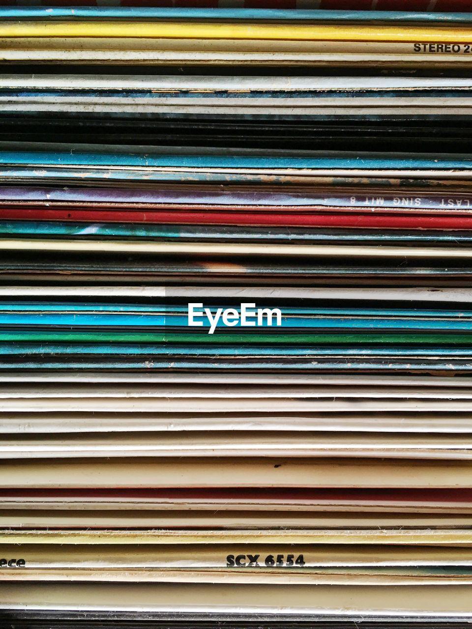 Full Frame Shot Of Records