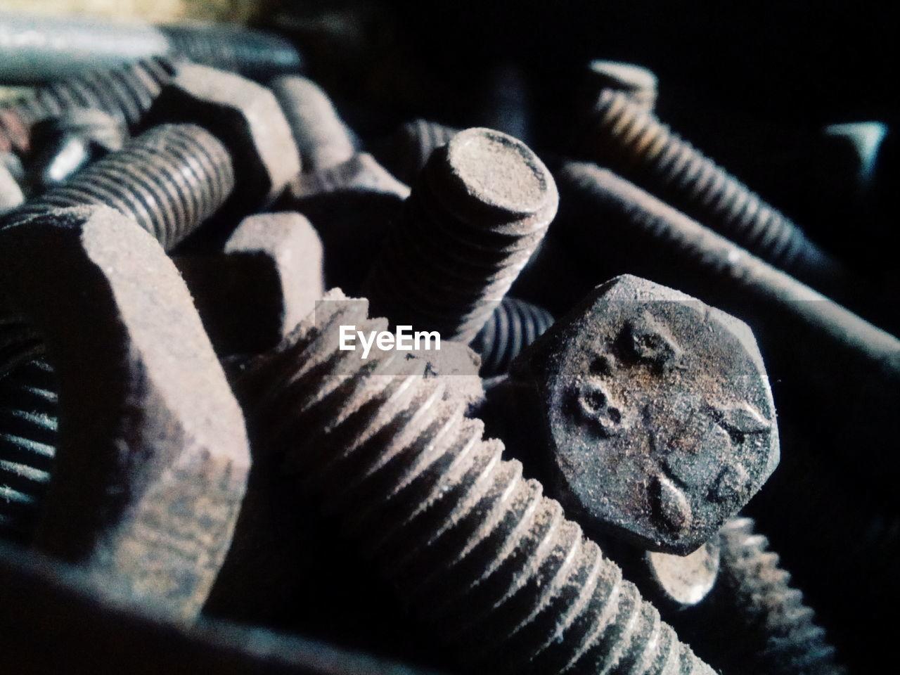 Full Frame Of Old Screws