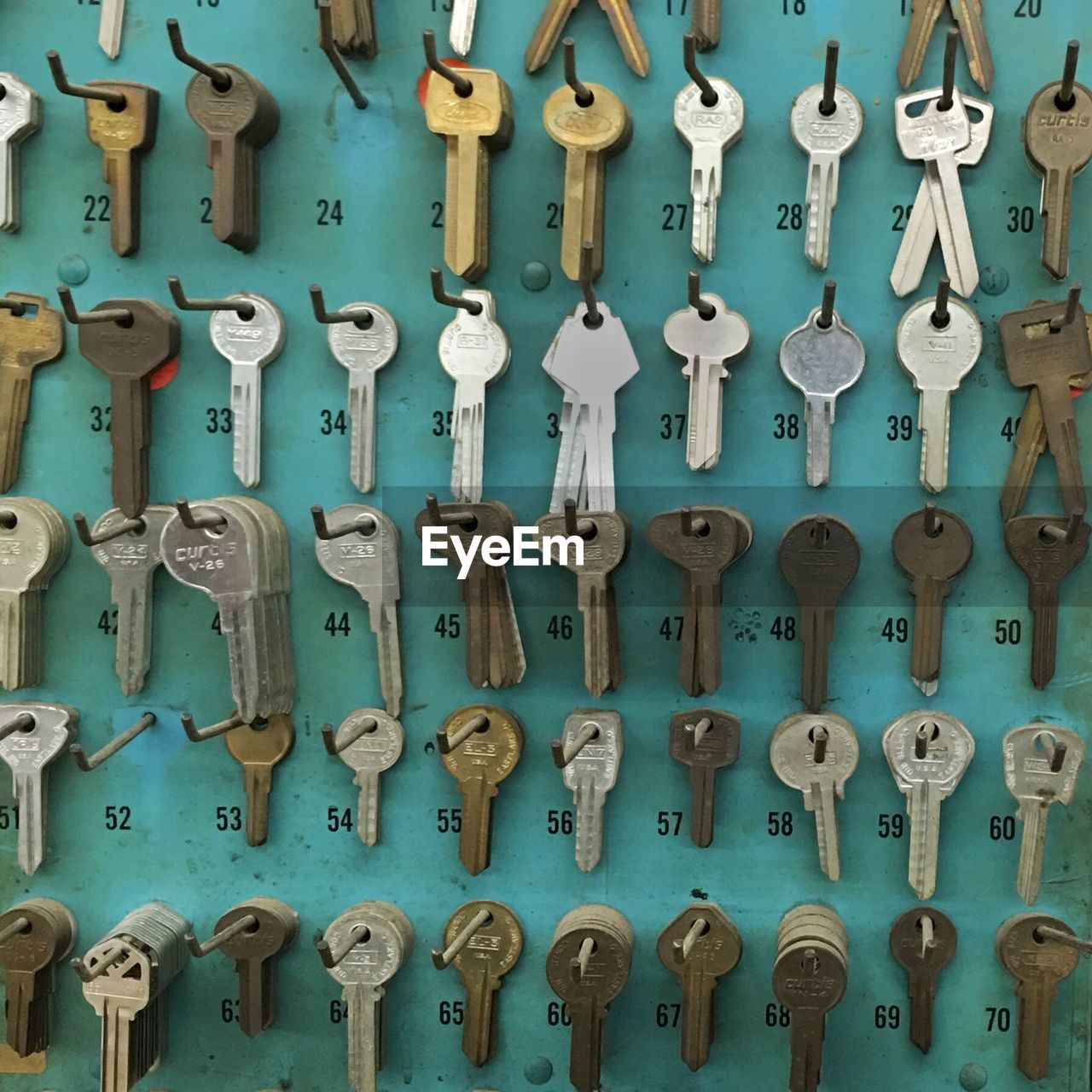 metal, no people, wall - building feature, full frame, indoors, large group of objects, security, close-up, backgrounds, safety, day, protection, choice, pattern, old, hanging, equipment, control, abundance