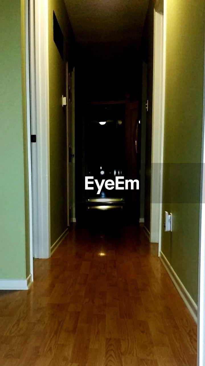 indoors, door, empty, corridor, hardwood floor, no people, doorway, architecture, day
