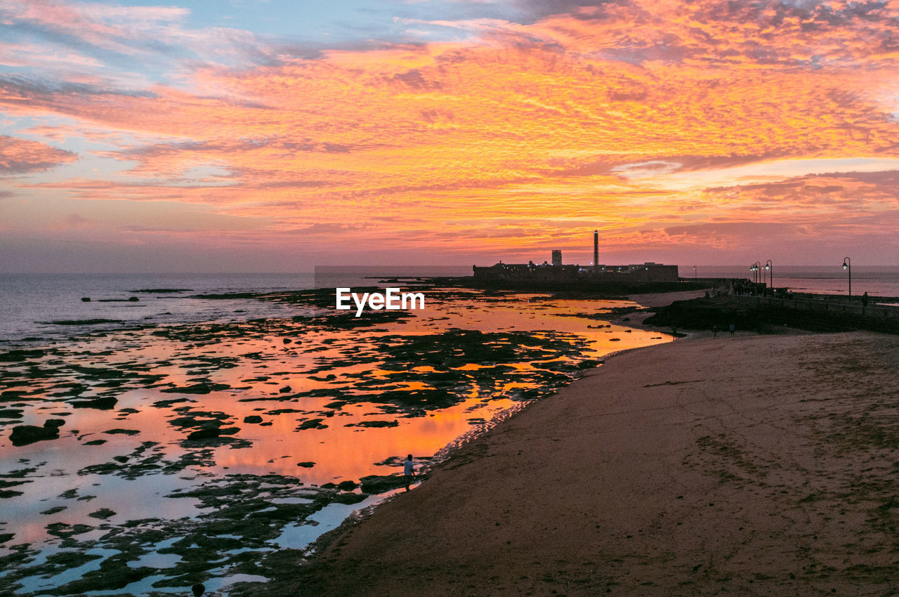 sea, sunset, water, sky, beach, horizon over water, cloud - sky, nature, beauty in nature, sand, scenics, outdoors, tranquility, no people, travel destinations, architecture, day