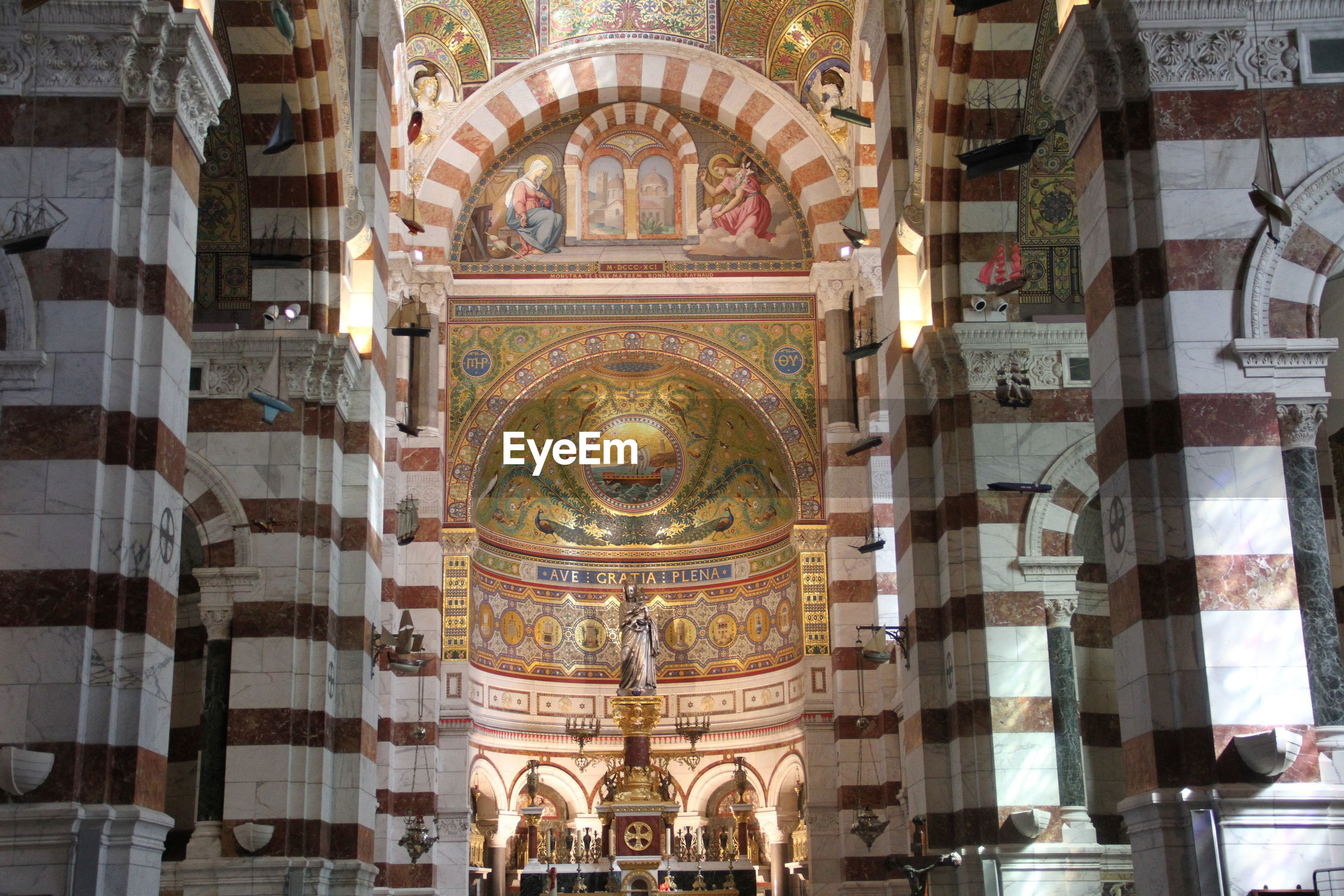 Interior of notre dame de la garde basilica