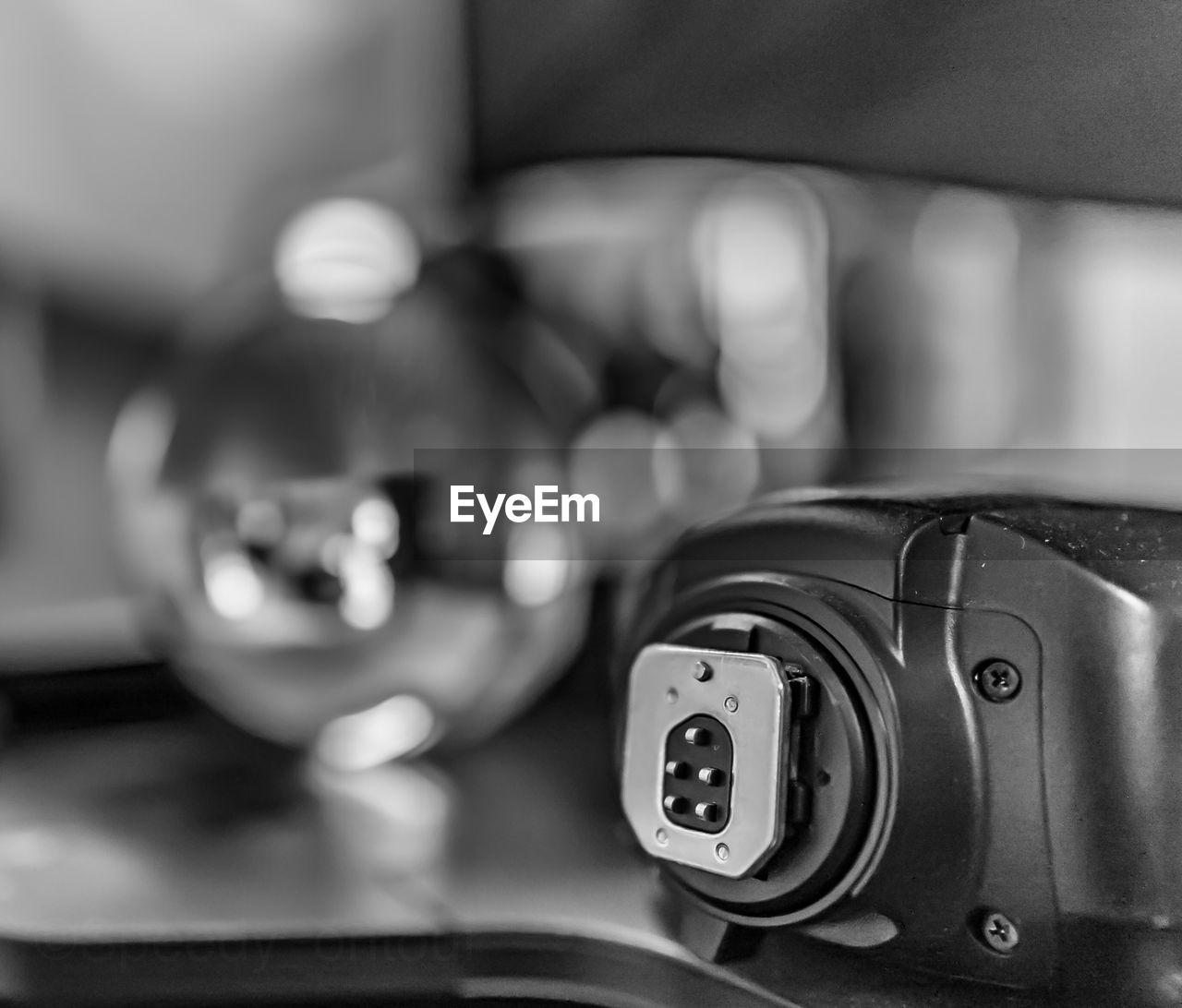Close-up of photographic equipment