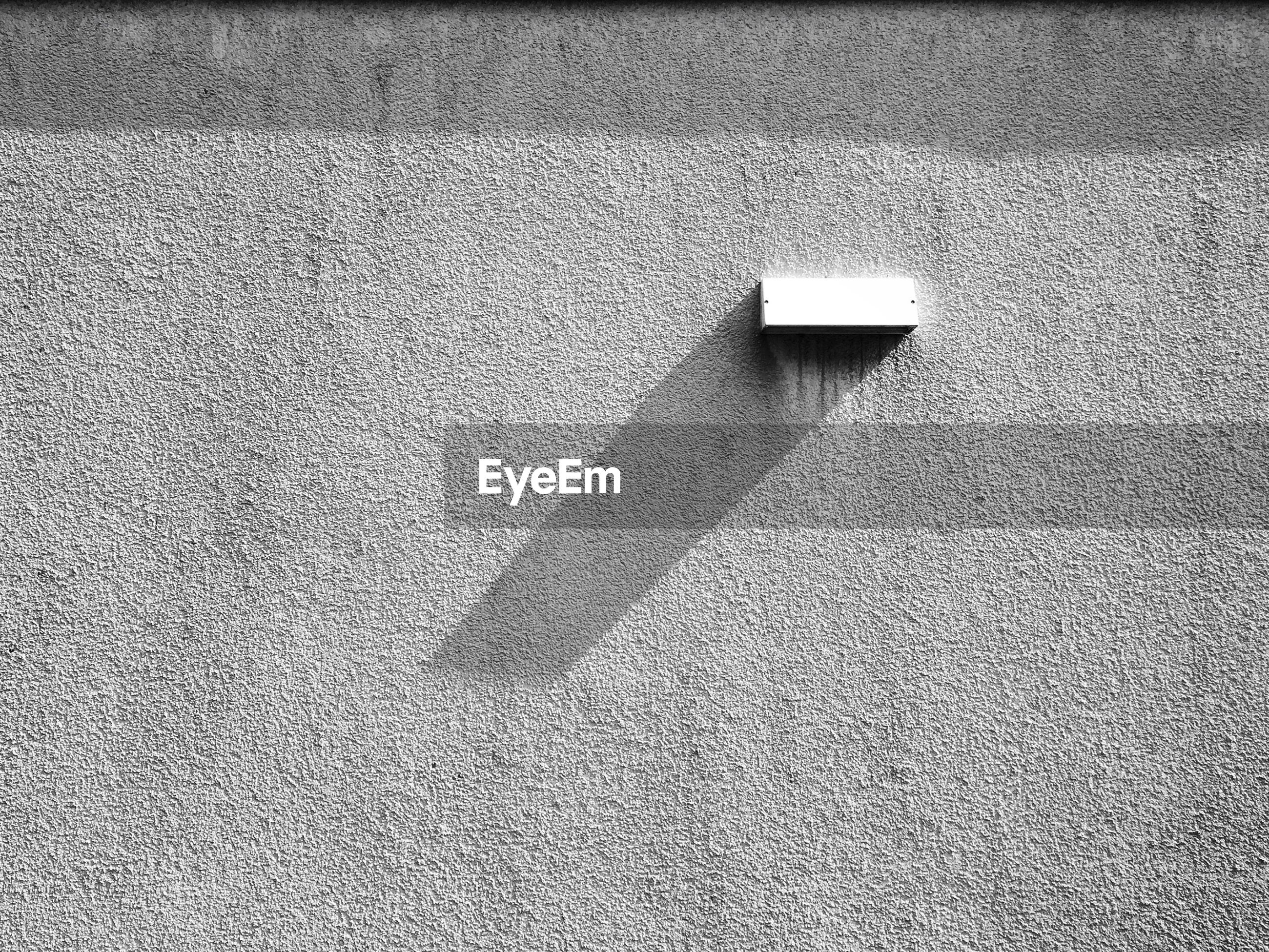Light on concrete wall