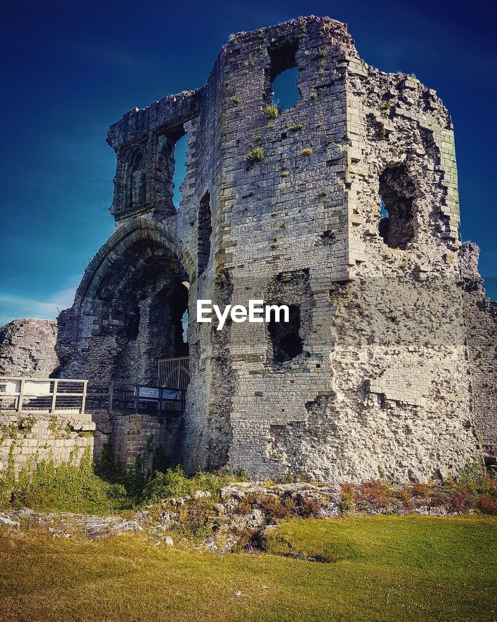 Old ruin against blue sky
