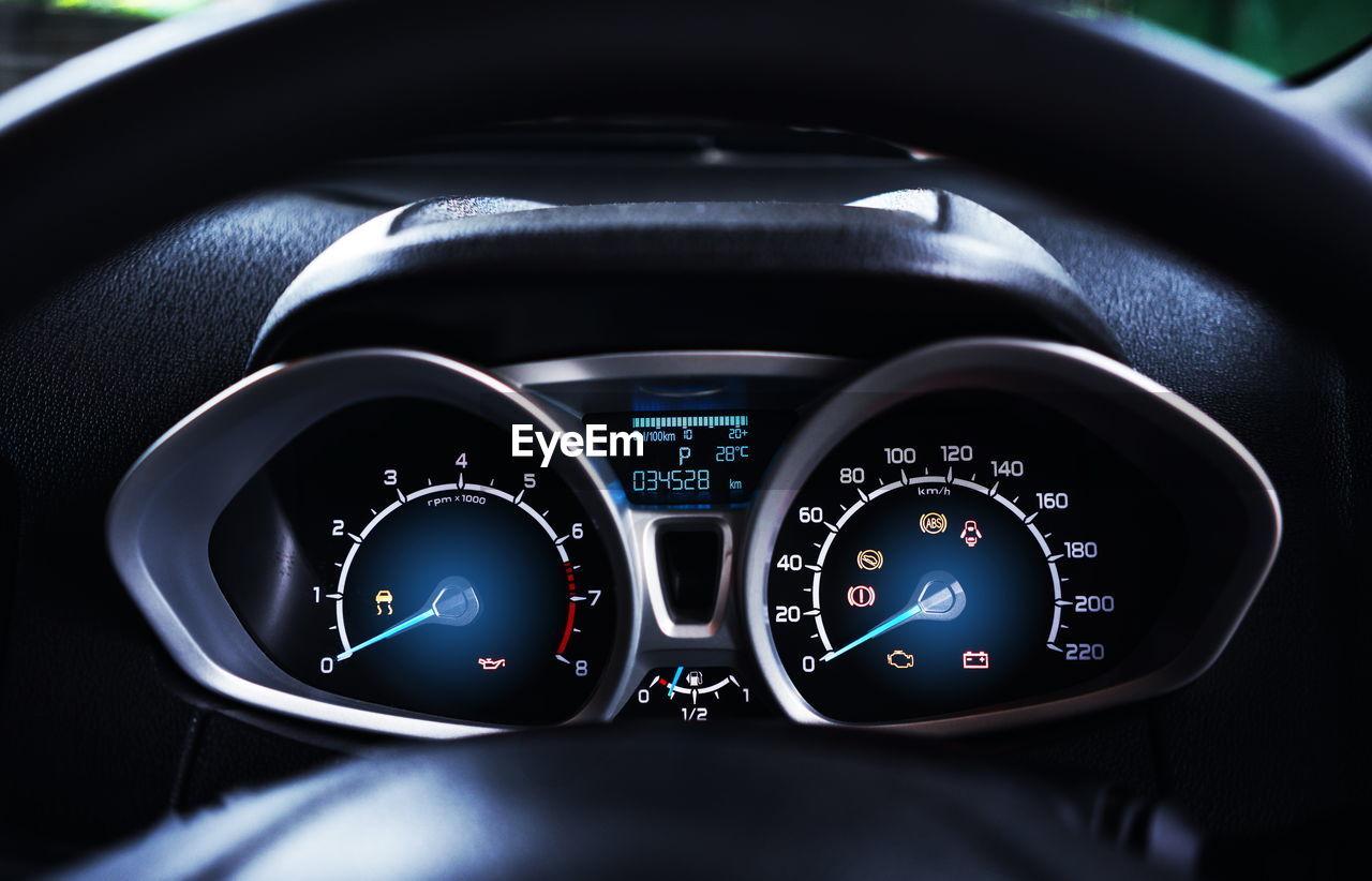 Speedometer of car