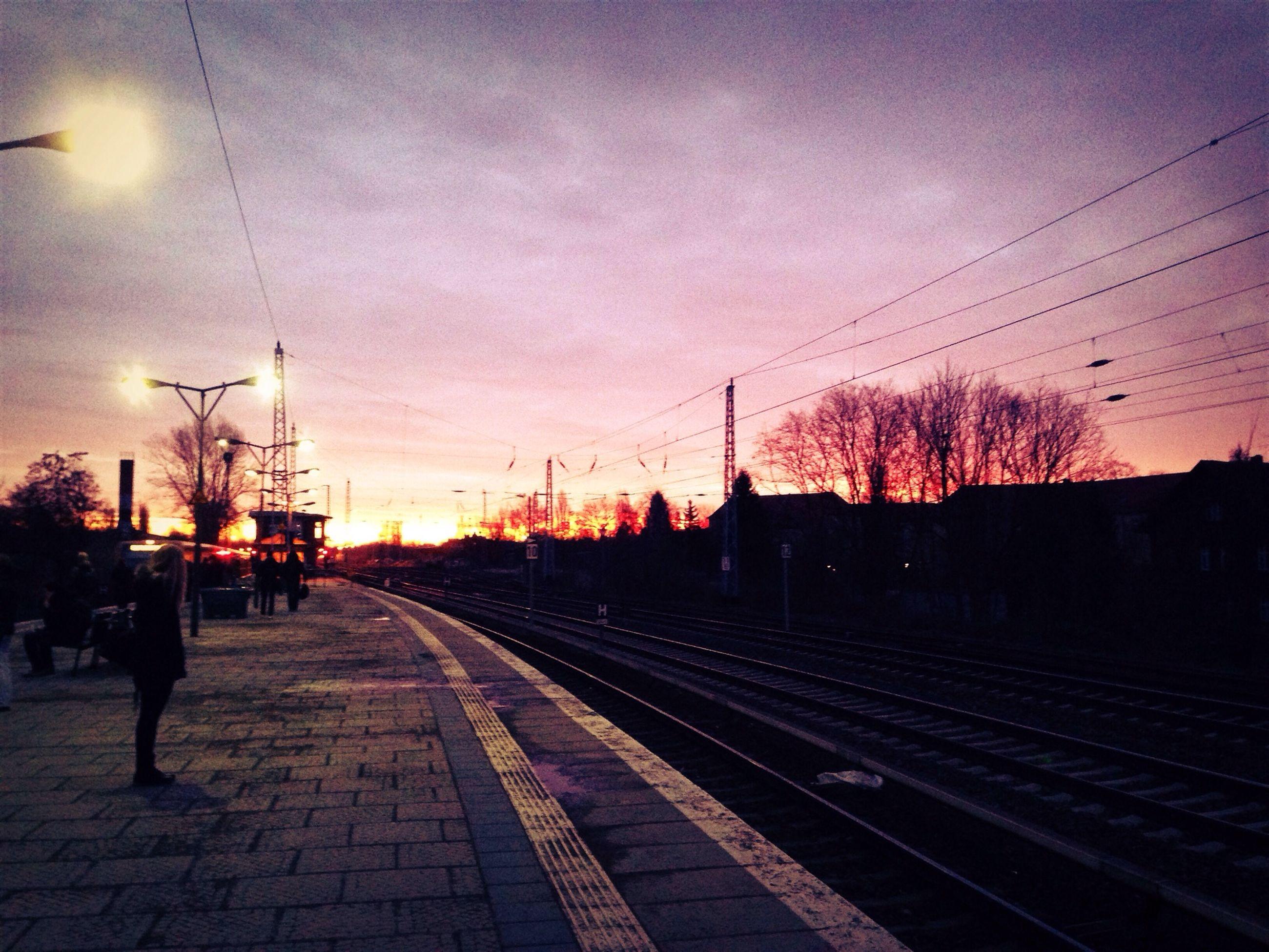 Platform at sunset