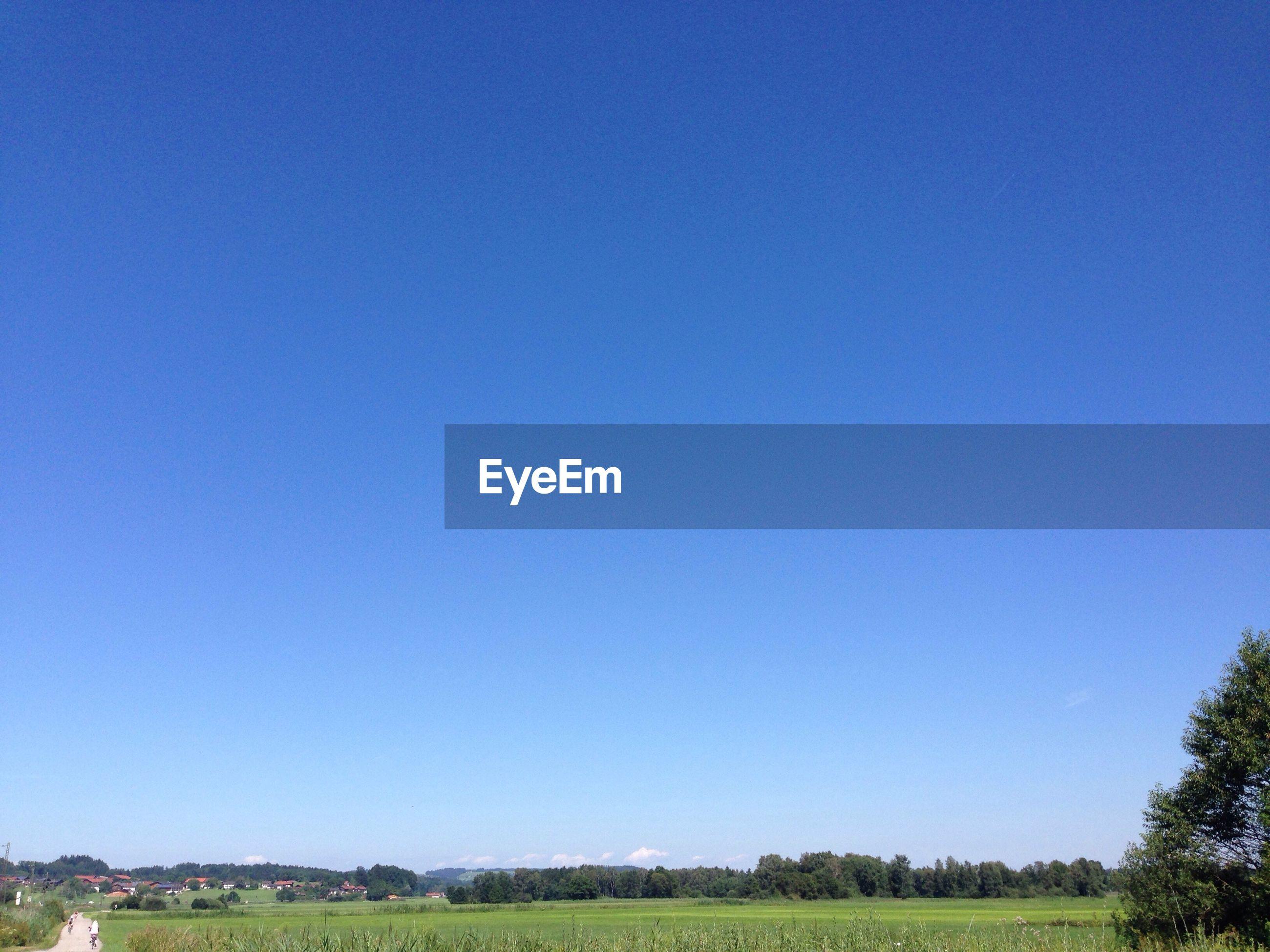 LANDSCAPE AGAINST CLEAR BLUE SKY