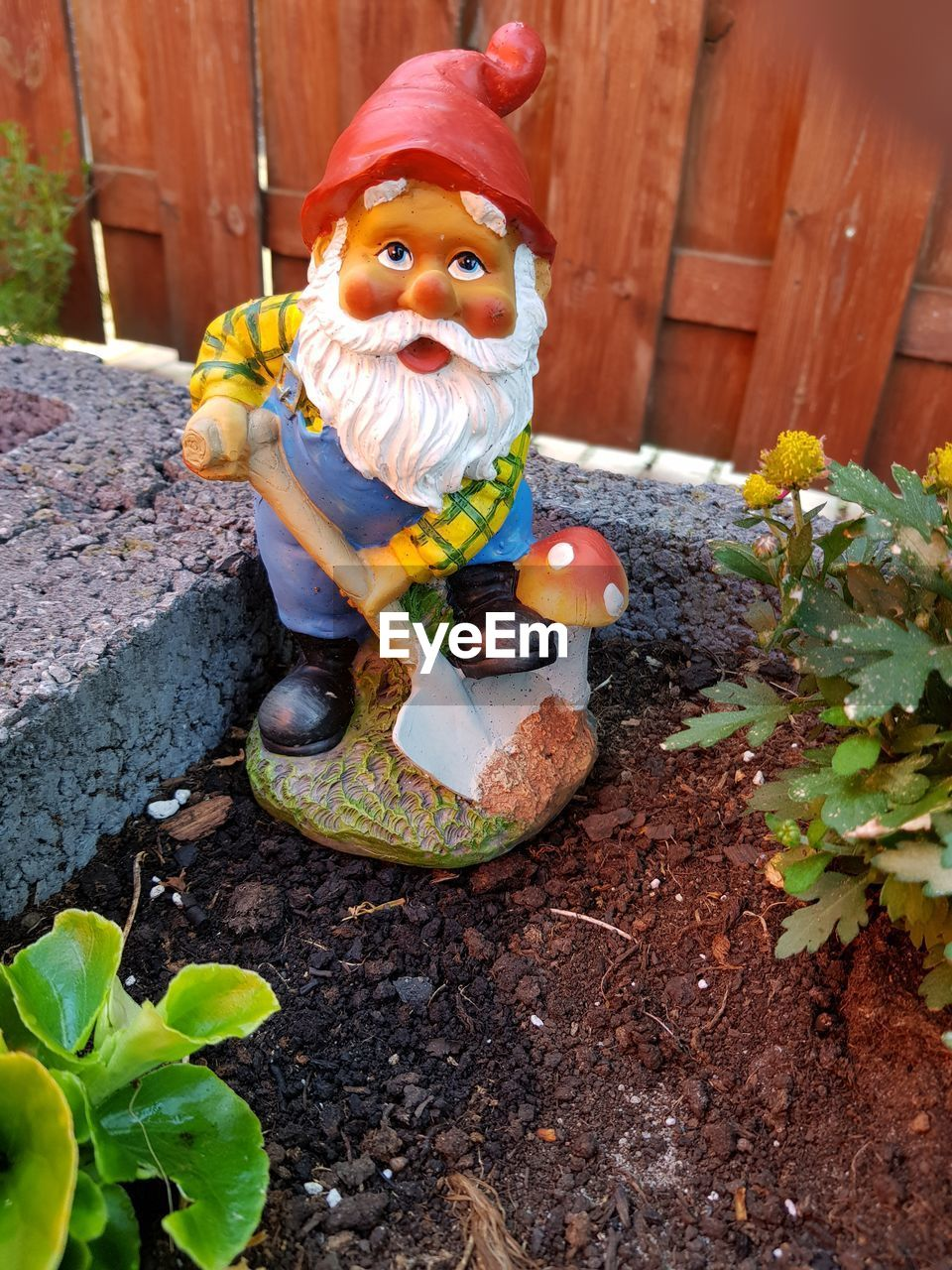 representation, looking at camera, day, celebration, nature, childhood, food, human representation, food and drink, front or back yard, leaf, decoration, toy, outdoors, plant part, wood - material, portrait, innocence