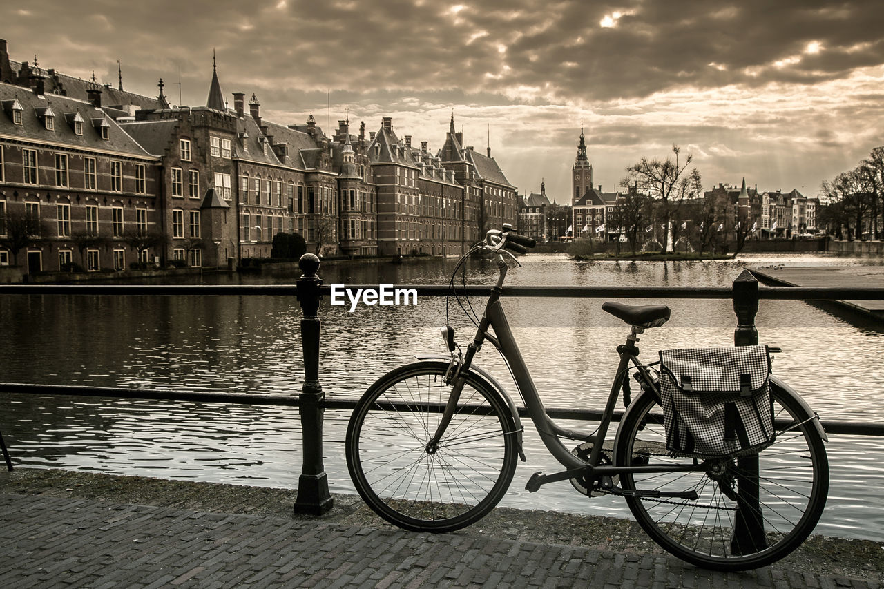 BICYCLES ON RIVERBANK