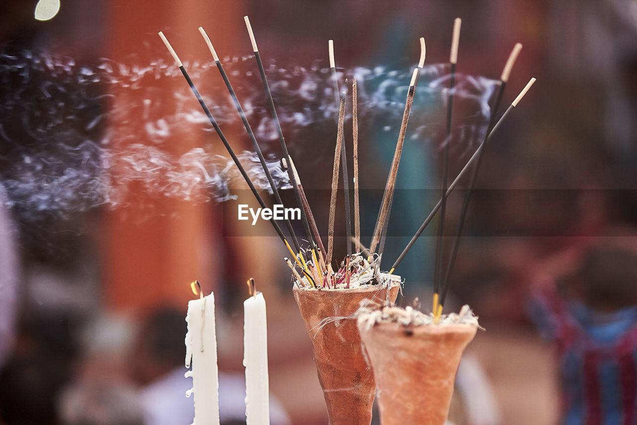 Close-Up Of Burning Incense