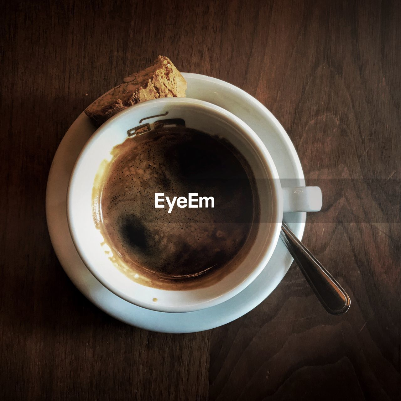 food and drink, refreshment, drink, cup, coffee cup, freshness, table, coffee - drink, saucer, high angle view, indoors, no people, directly above, food, close-up