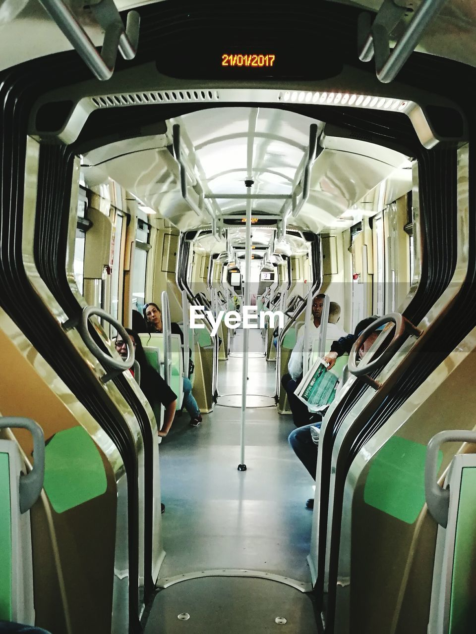 vehicle interior, transportation, vehicle seat, mode of transport, train - vehicle, public transportation, in a row, train interior, travel, subway train, empty, seat, indoors, sitting, journey, airplane seat, commuter train, illuminated, no people, day