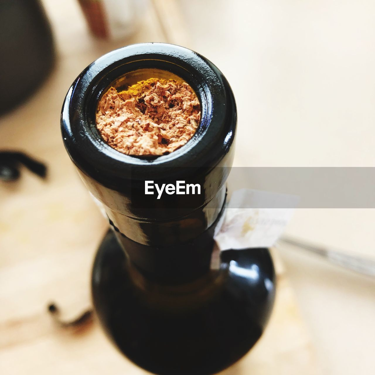 High angle view of tobacco product in container on table