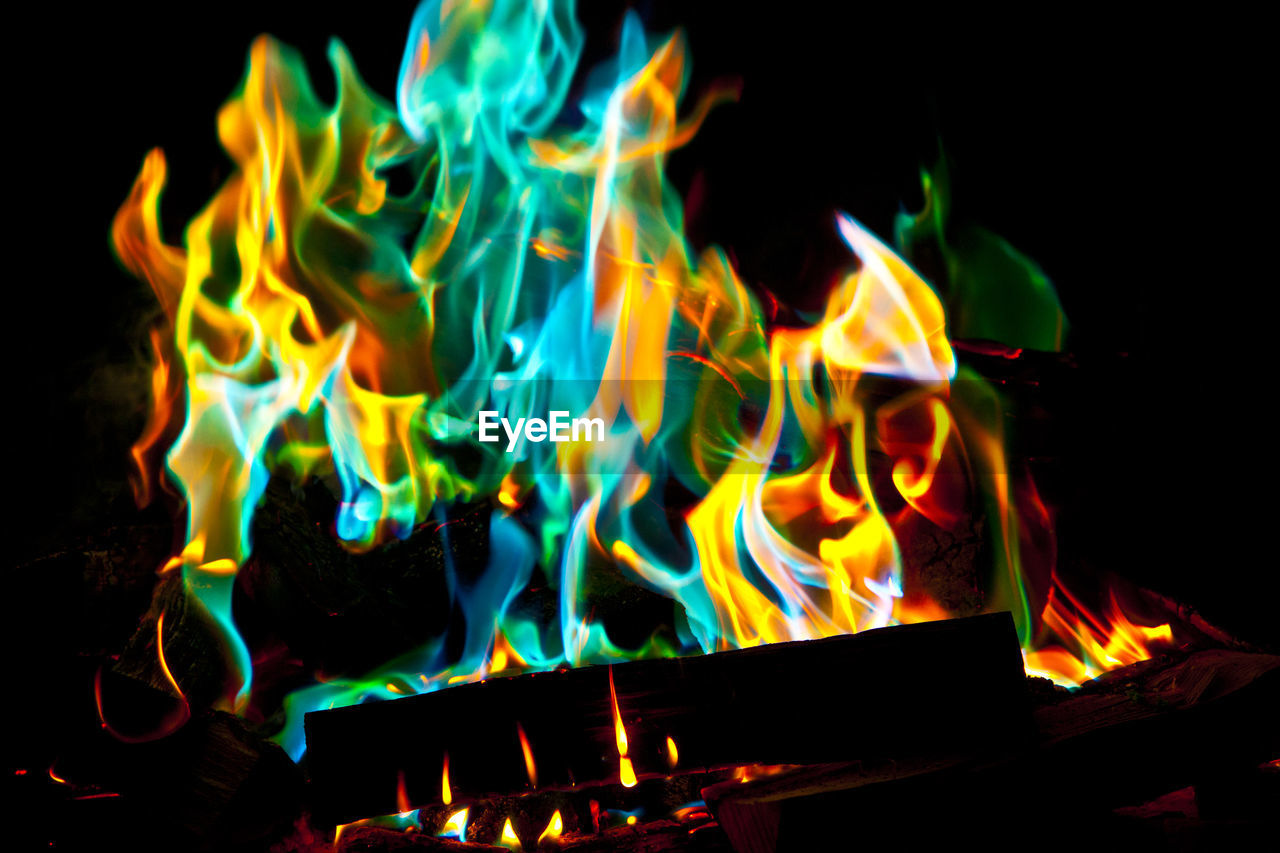 fire, burning, fire - natural phenomenon, flame, heat - temperature, night, glowing, close-up, no people, nature, motion, orange color, wood - material, log, event, blurred motion, wood, indoors, firewood, bonfire