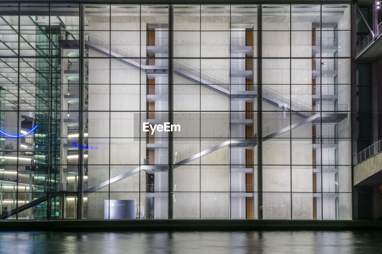 architecture, built structure, modern, building exterior, no people, illuminated, indoors, city, day