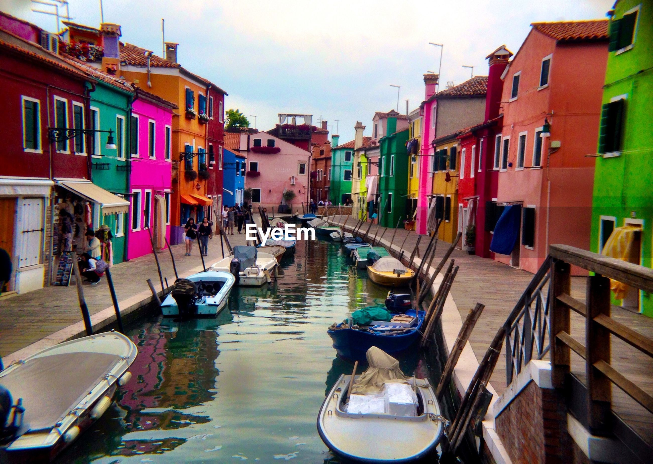 Colorful houses over canal