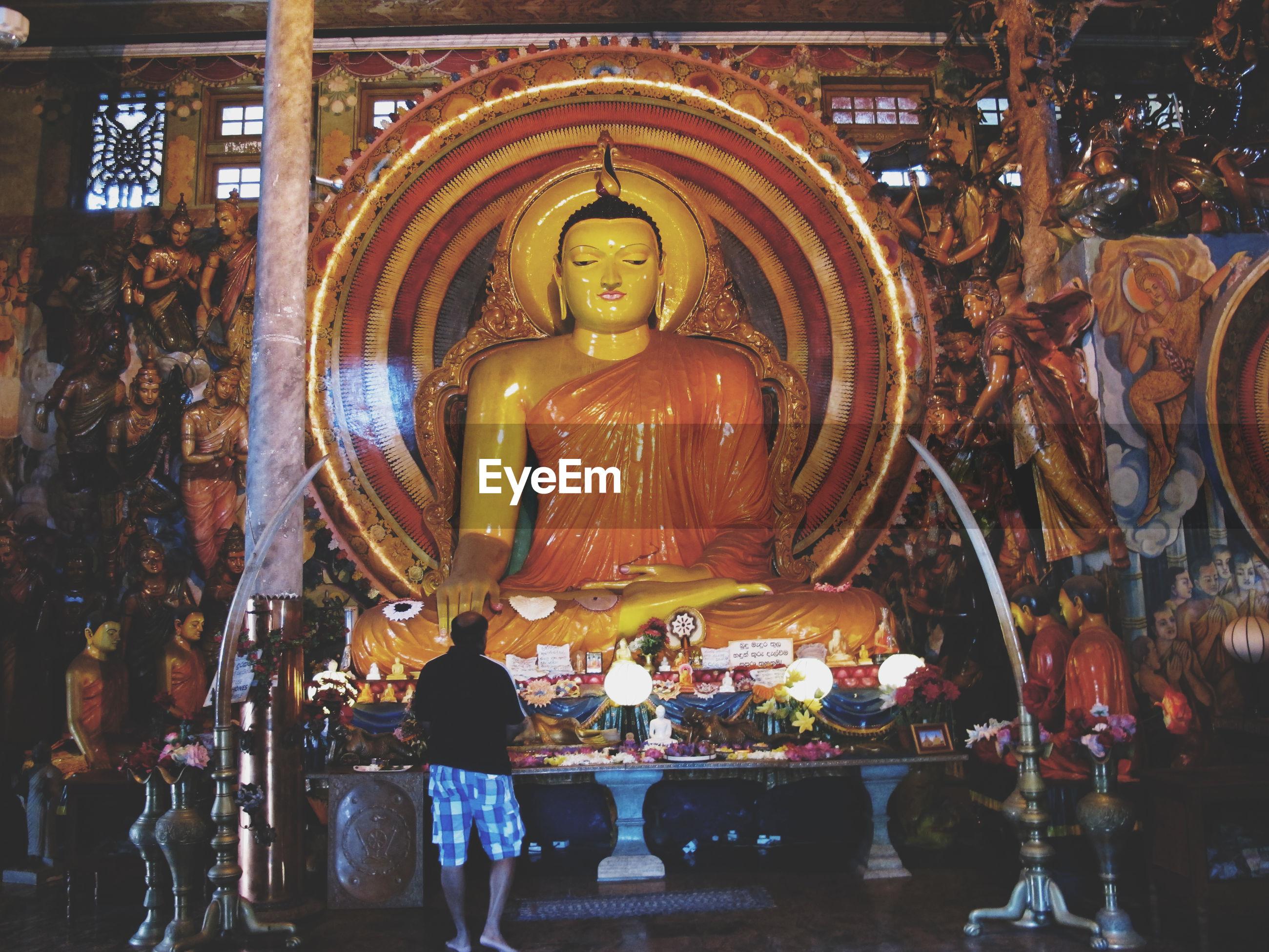 Interior of buddha temple