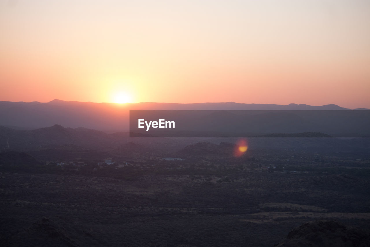 View Of Mountain At Sunrise
