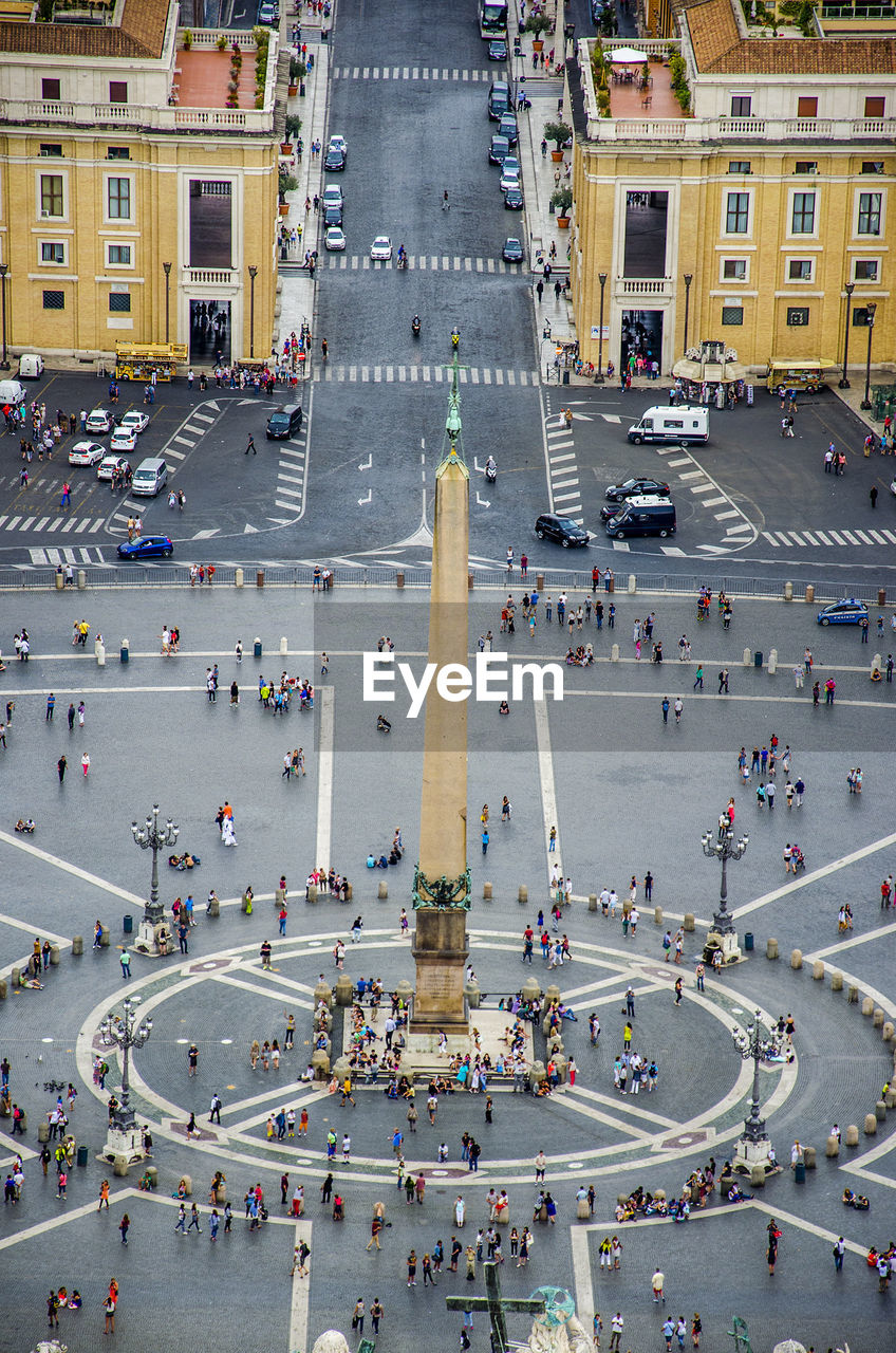 High Angle View Of Monument On St. Peter's Square