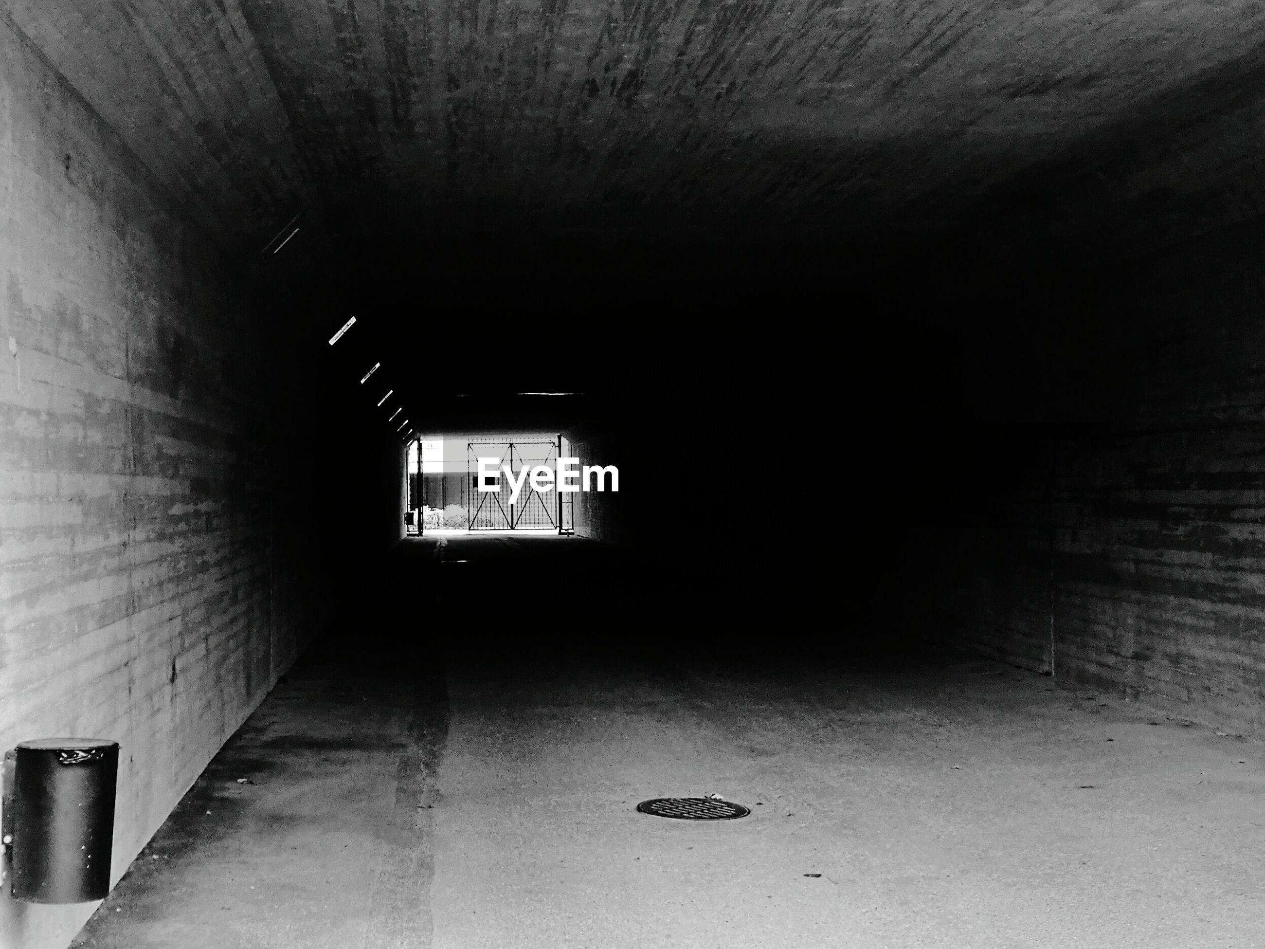 Interior of tunnel