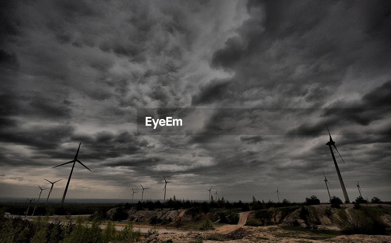 wind turbine, wind power, alternative energy, environmental conservation, windmill, fuel and power generation, sky, renewable energy, cloud - sky, no people, field, industrial windmill, outdoors, landscape, rural scene, day, nature, technology, scenics, beauty in nature
