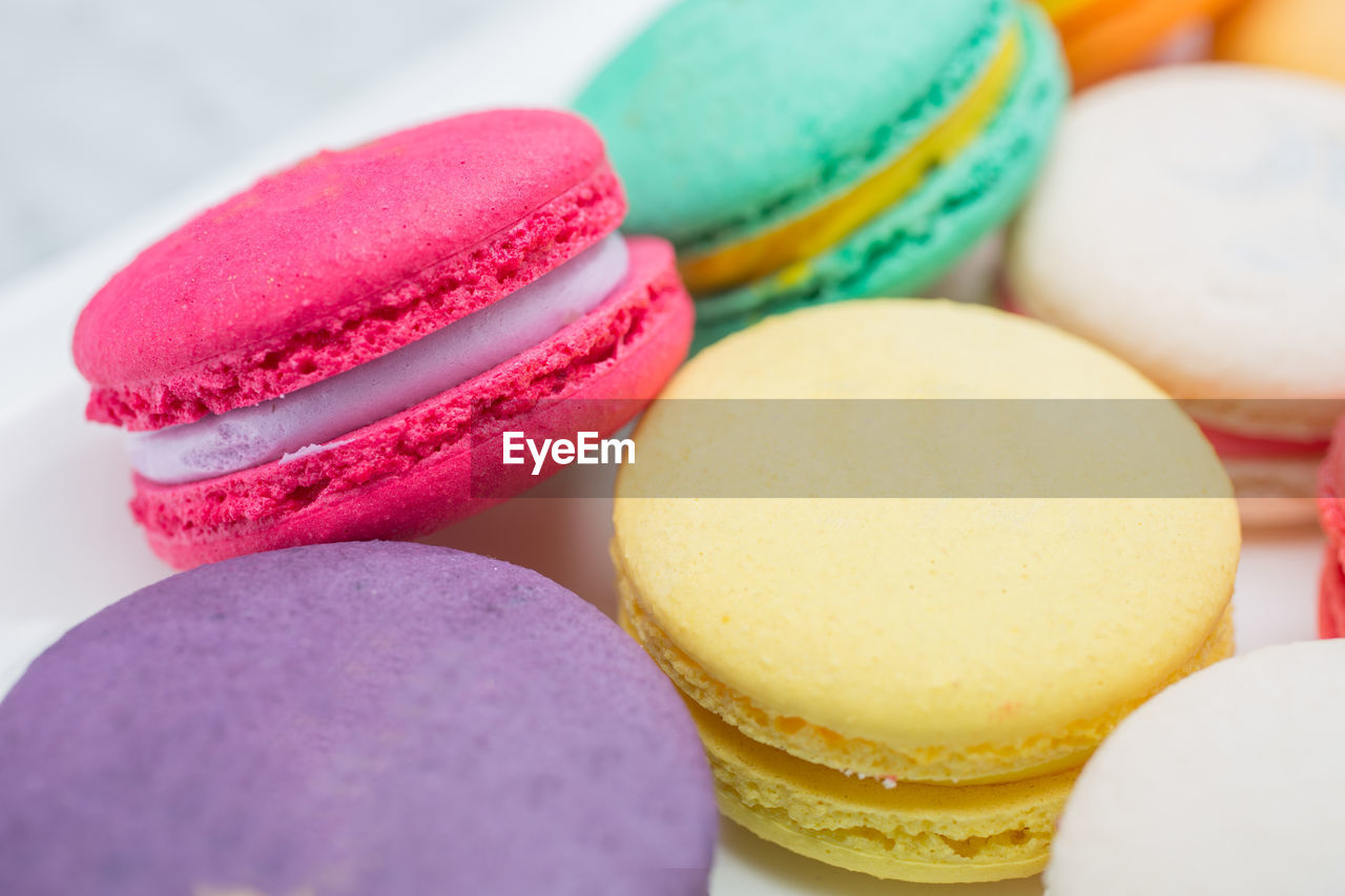 multi colored, food and drink, sweet food, food, macaroon, indulgence, still life, sweet, ready-to-eat, close-up, variation, unhealthy eating, temptation, indoors, choice, no people, dessert, freshness, celebration, egg