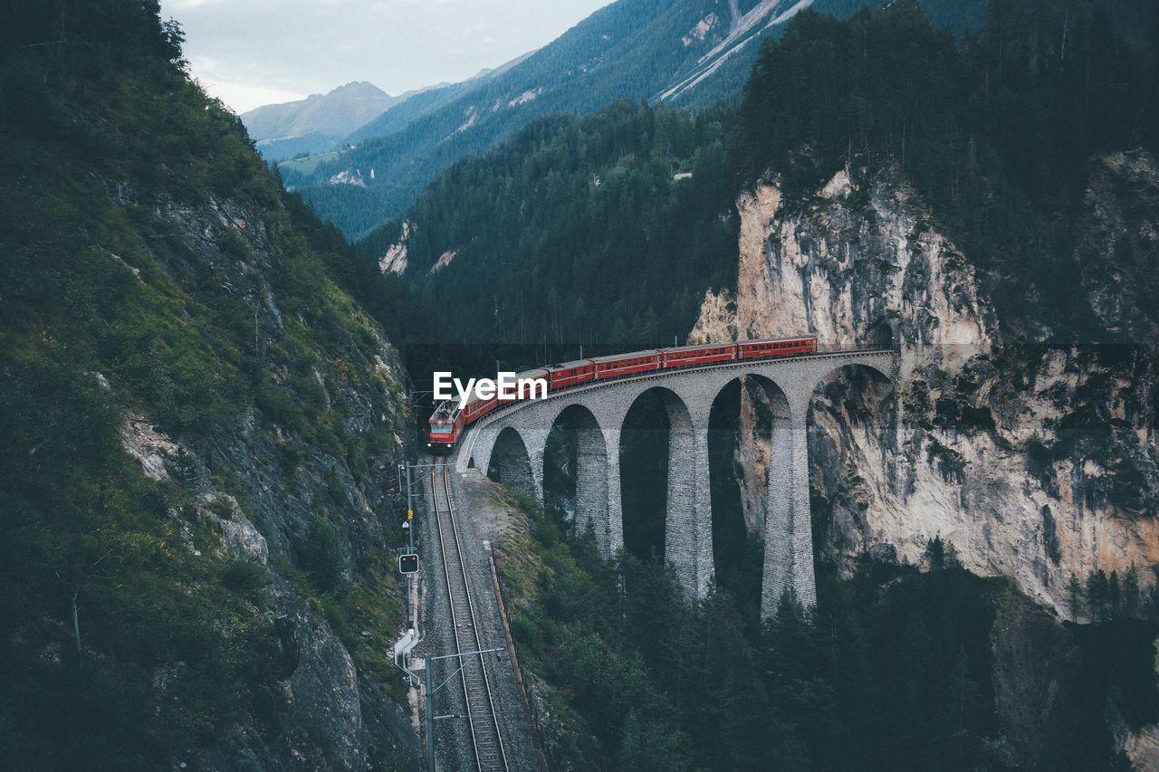 Landwasser Bridge In Switzerland