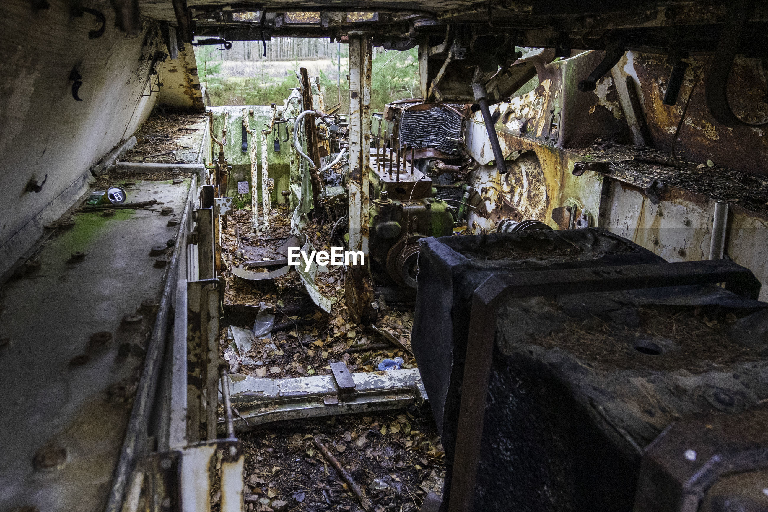Inside of an abandoned tank