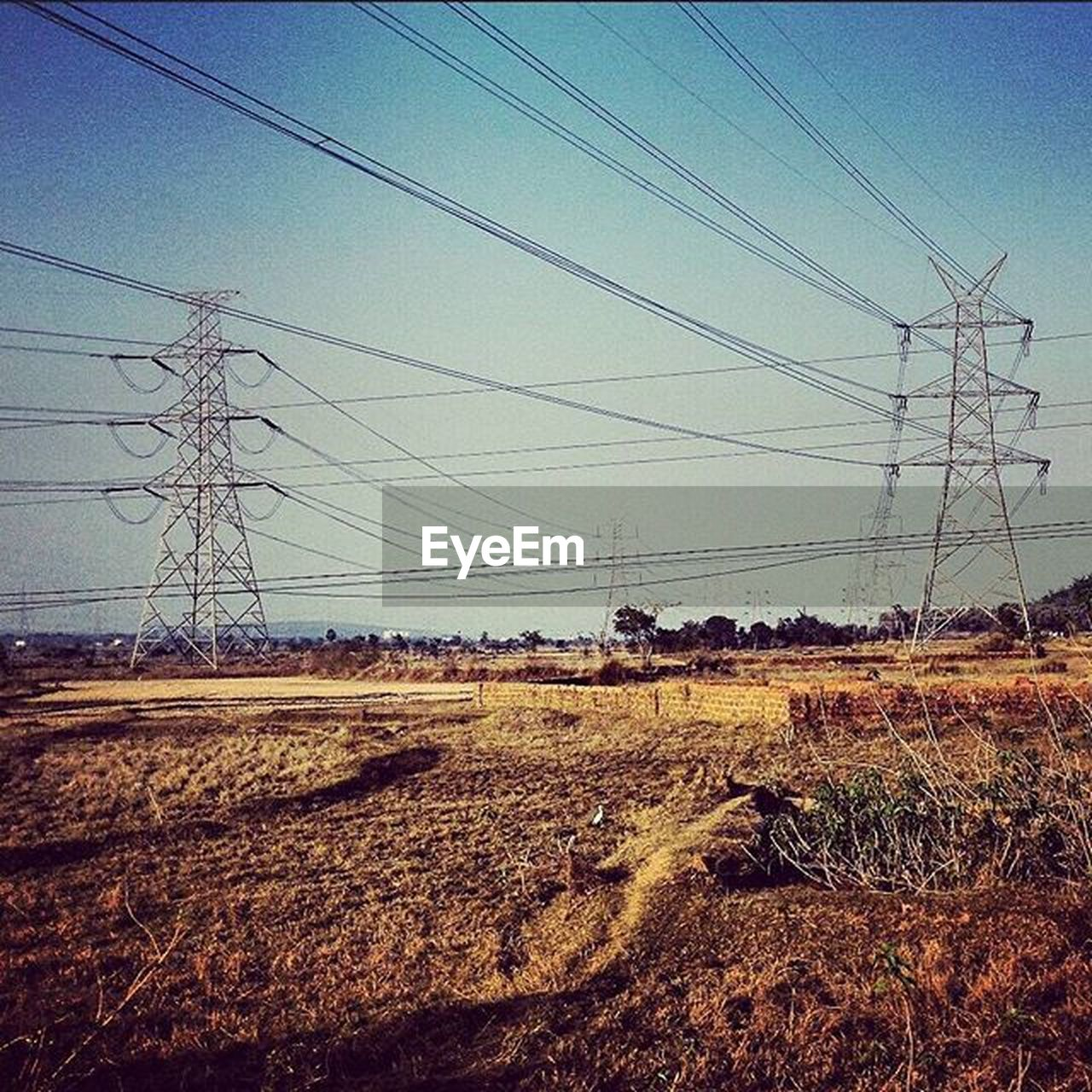 cable, electricity pylon, power line, connection, electricity, power supply, fuel and power generation, technology, day, electricity tower, no people, sky, landscape, field, telephone line, outdoors, clear sky, rural scene, nature