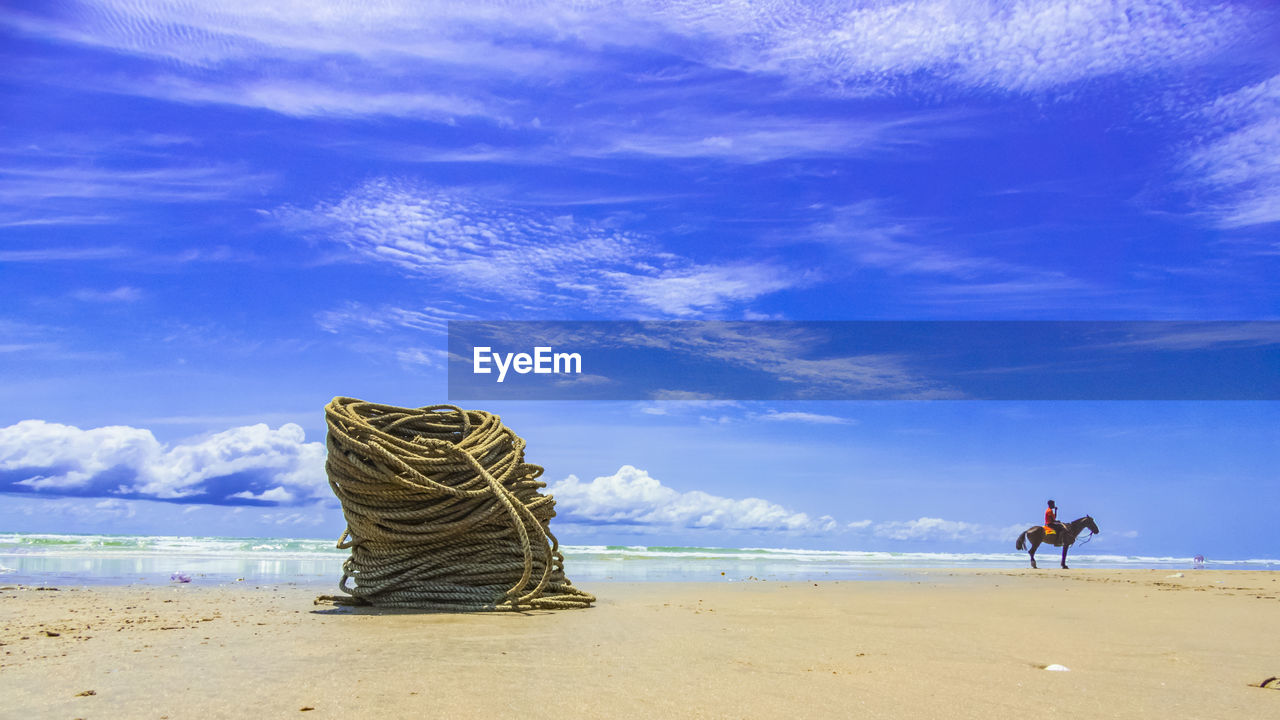Fishingboat ropes atlabadi beach accra ghana.