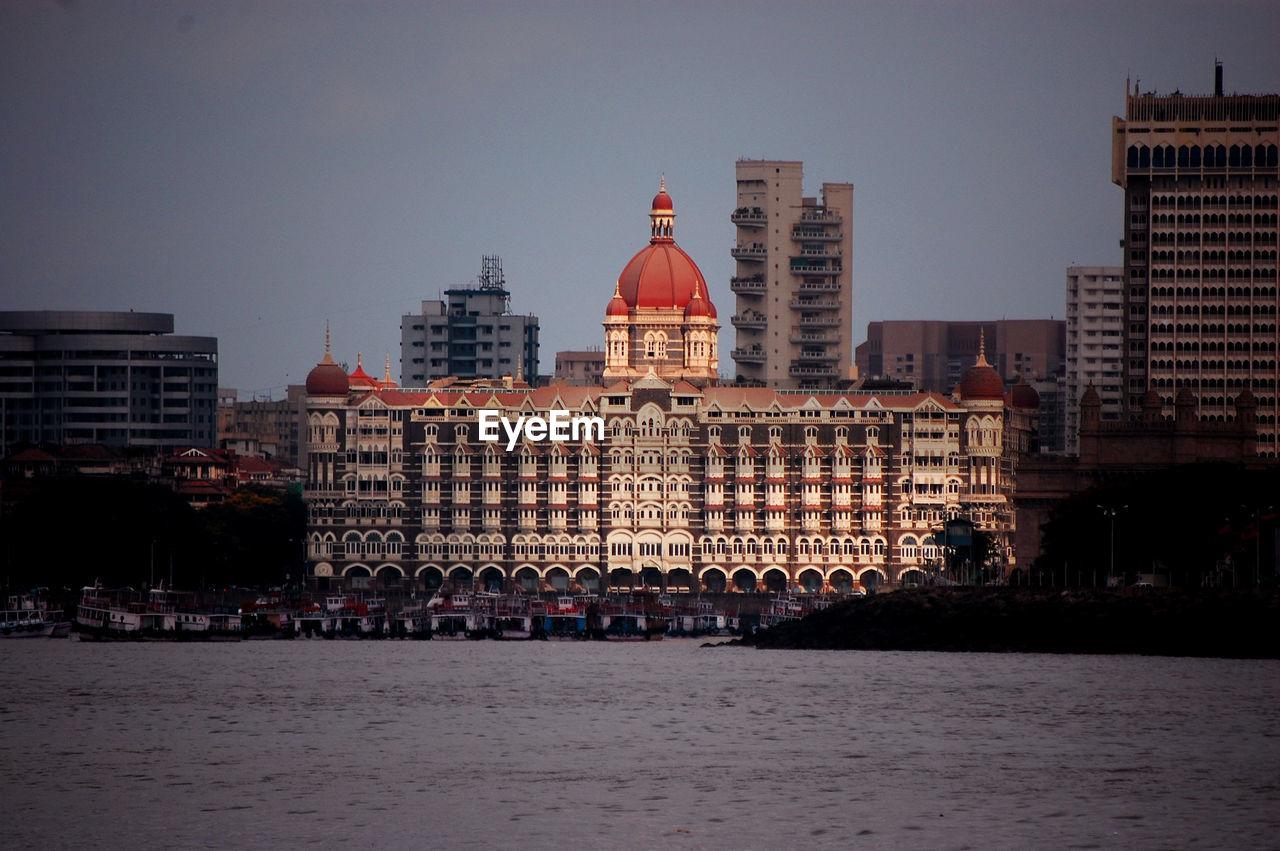 Historic The Taj Mahal Palace In City Against Sky