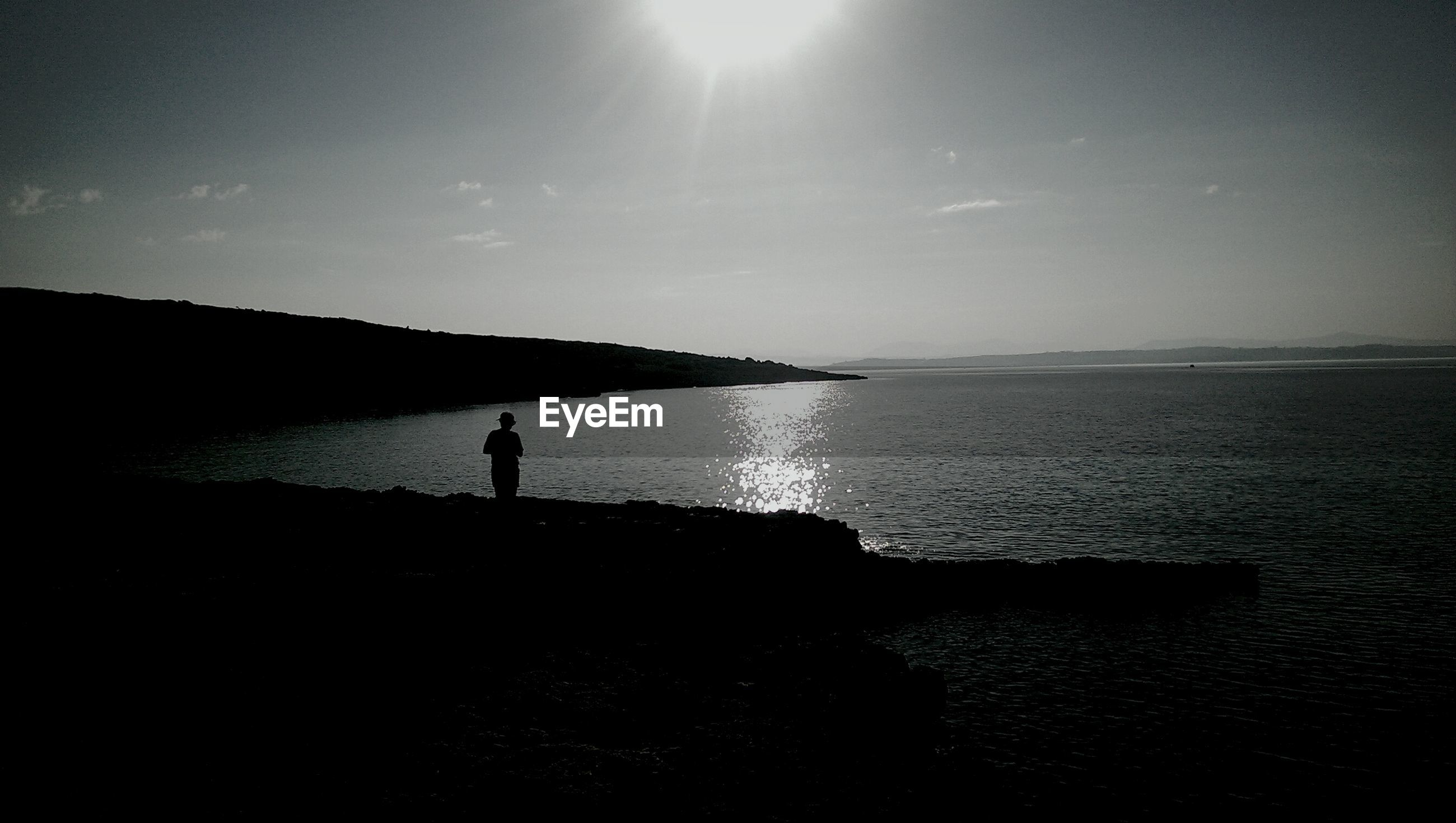 Lone person on shore