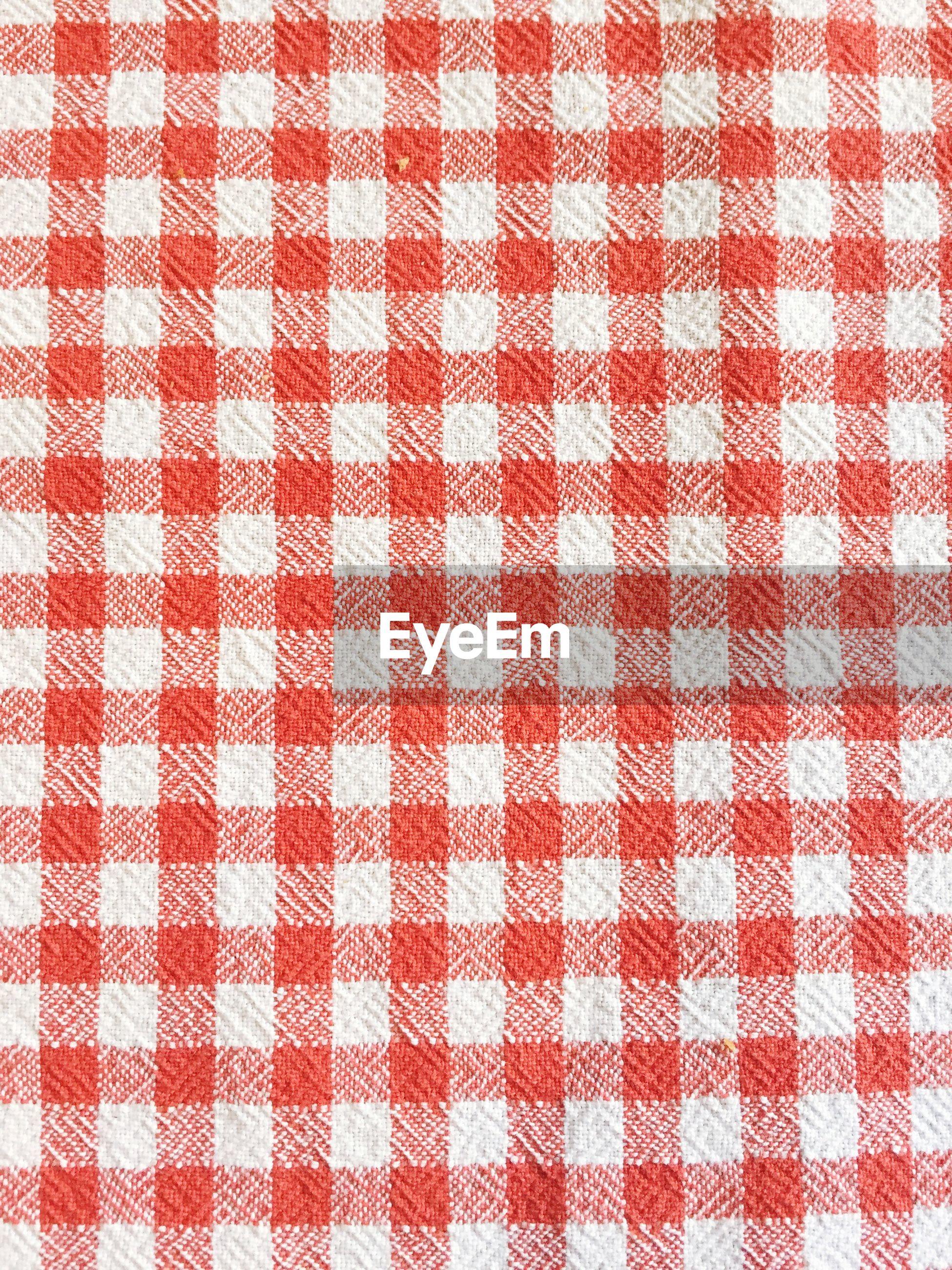 Full frame shot of checked pattern napkin