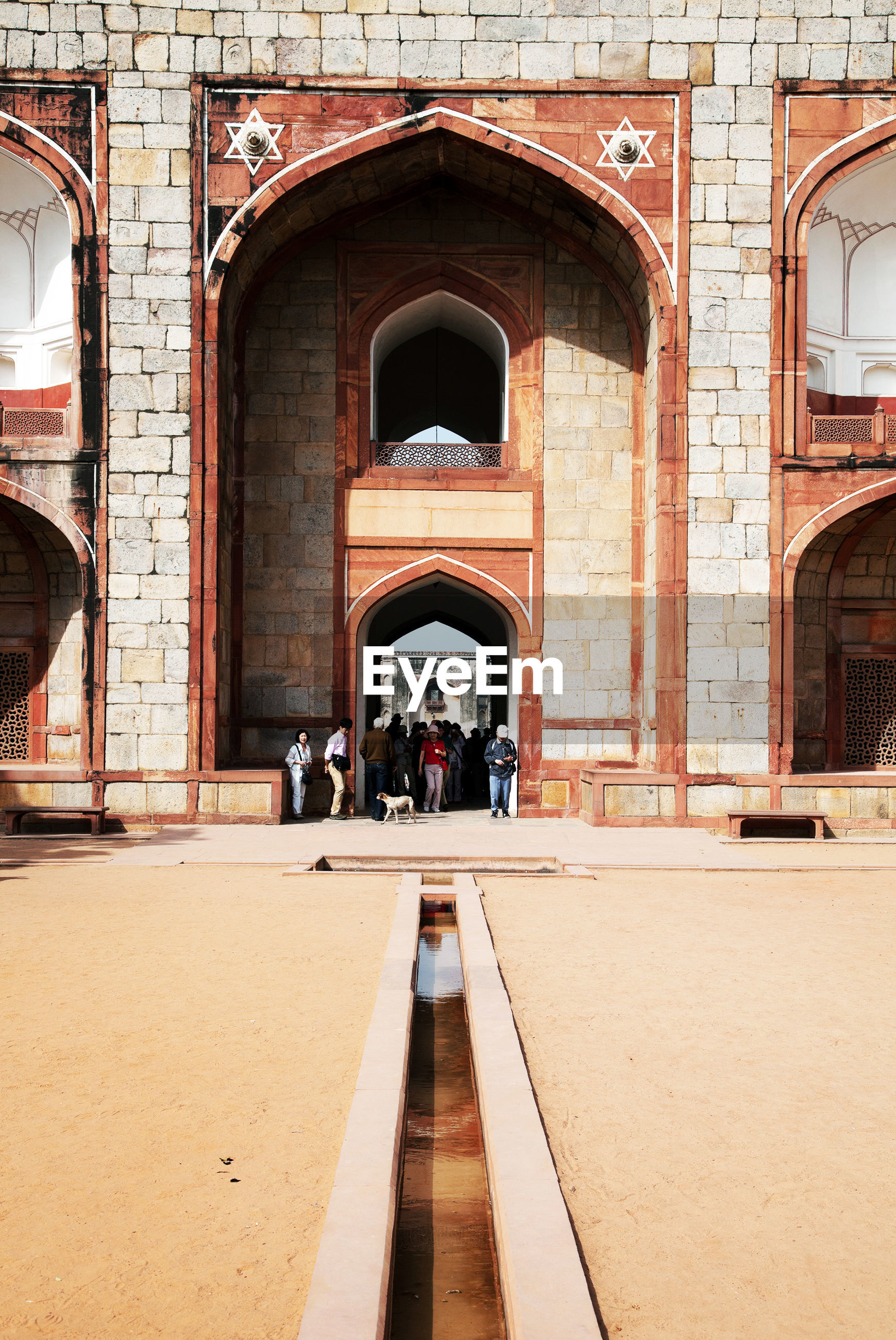 People at humayuns tomb