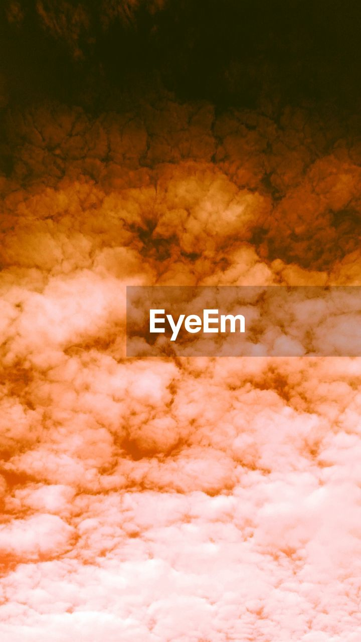 cloud - sky, beauty in nature, sky, tranquility, scenics - nature, backgrounds, no people, nature, full frame, abstract, orange color, idyllic, cloudscape, outdoors, tranquil scene, environment, pattern, softness, dramatic sky, abstract backgrounds, wind, meteorology, power in nature