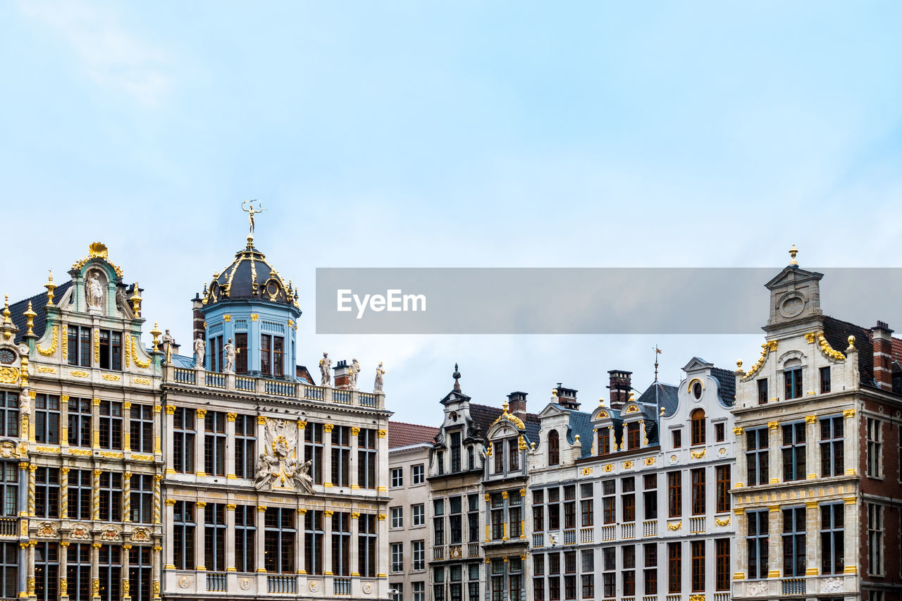 Low Angle View Of Grand Place Against Sky