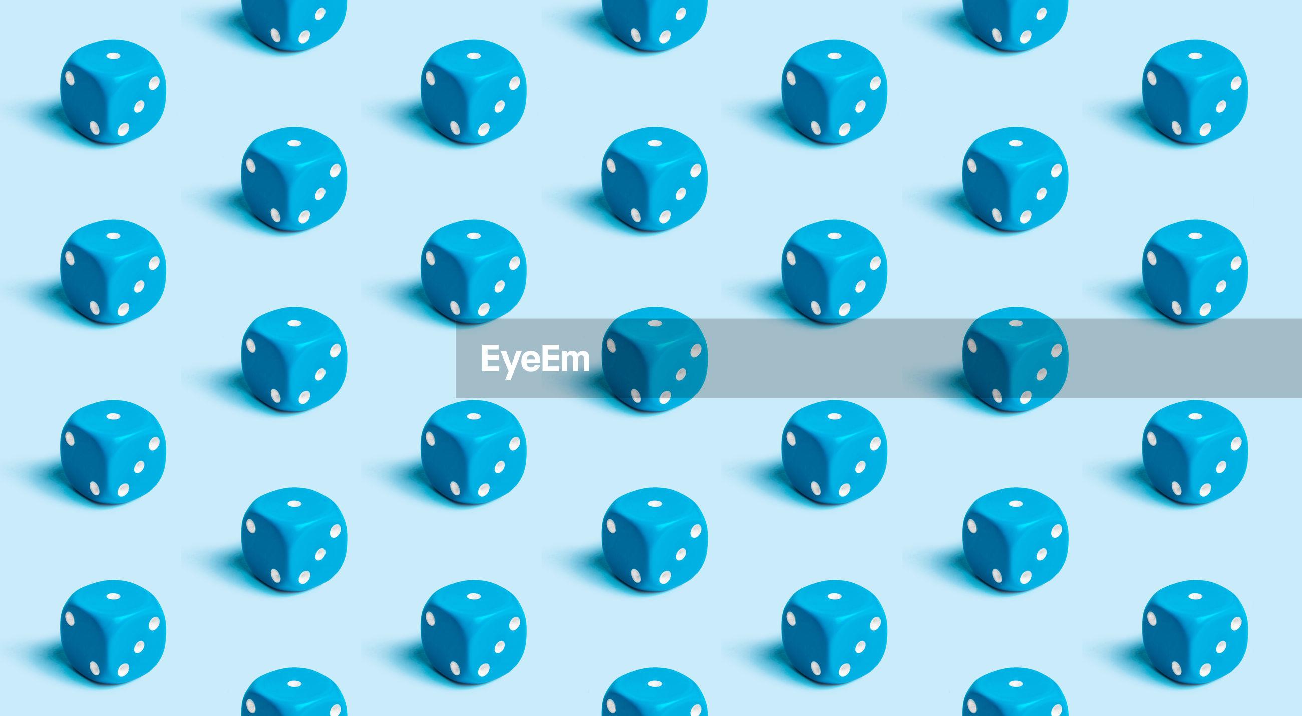 Full frame shot of blue dice