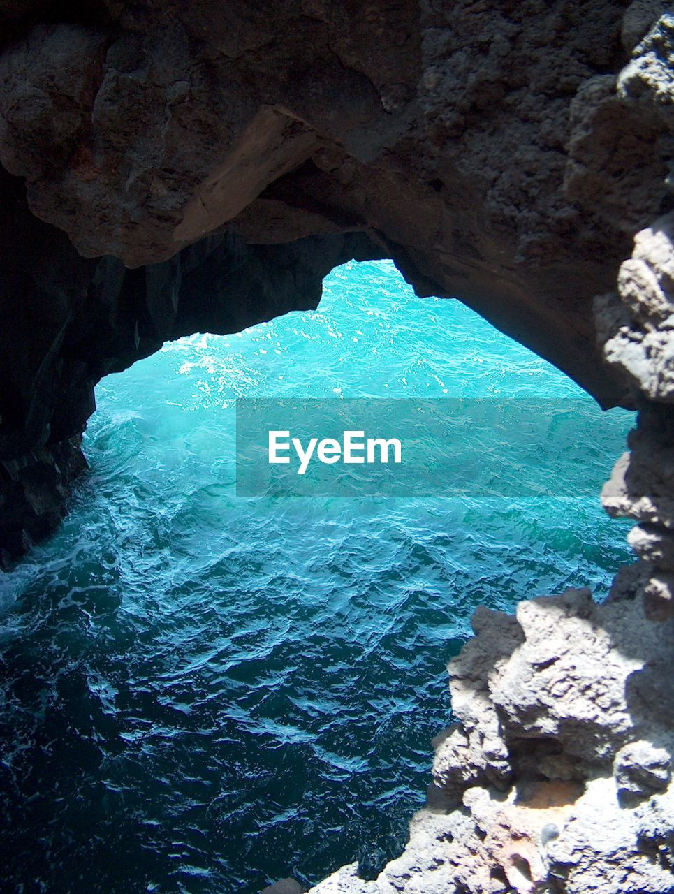 rock, water, rock - object, solid, sea, rock formation, beauty in nature, nature, no people, day, scenics - nature, cave, blue, tranquility, geology, outdoors, physical geography, high angle view, idyllic, turquoise colored, eroded