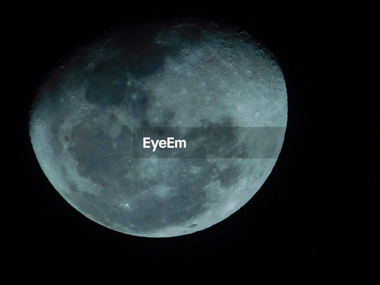 Idyllic shot of planetary moon