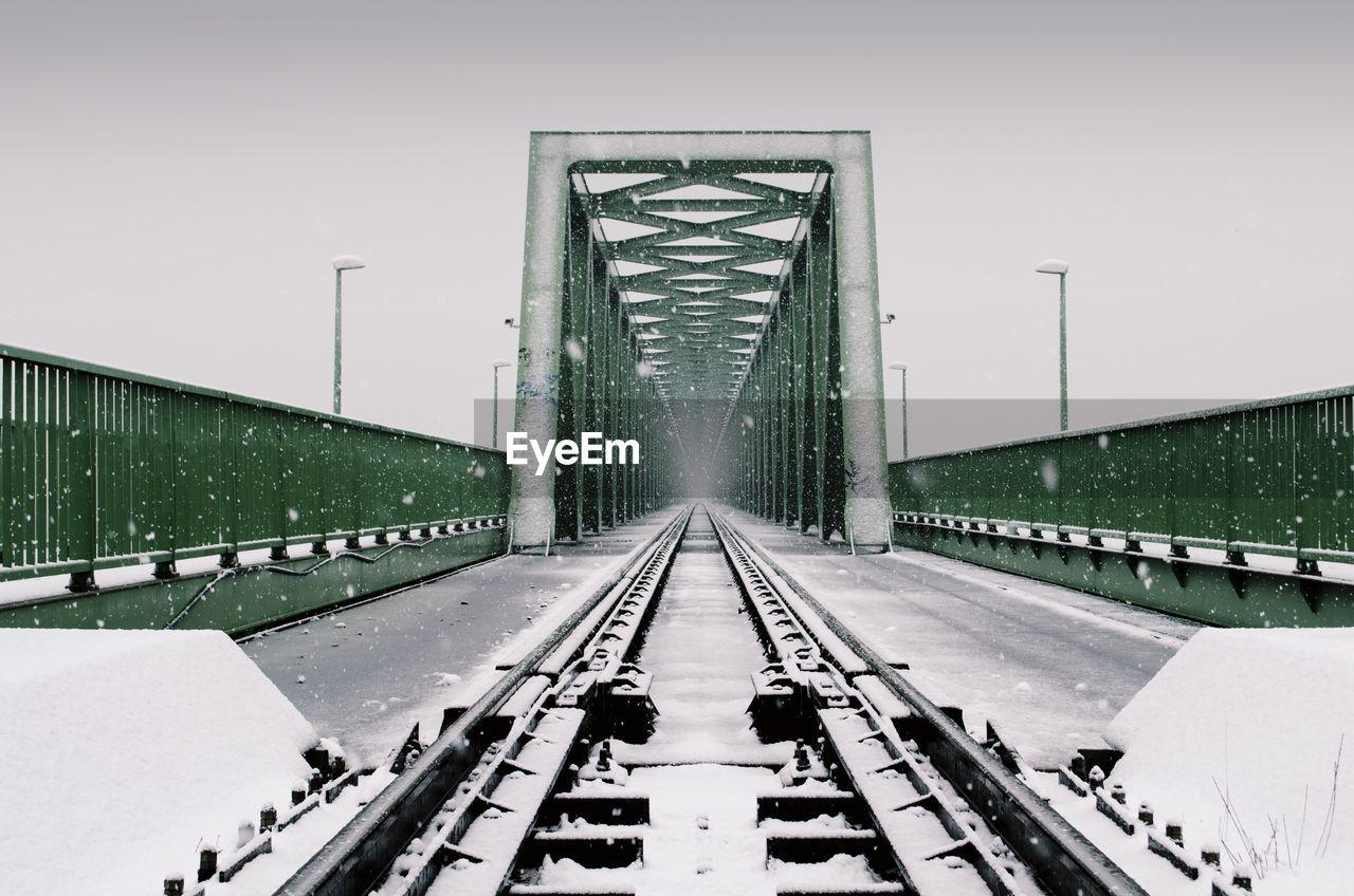 RAILWAY BRIDGE AGAINST CLEAR SKY