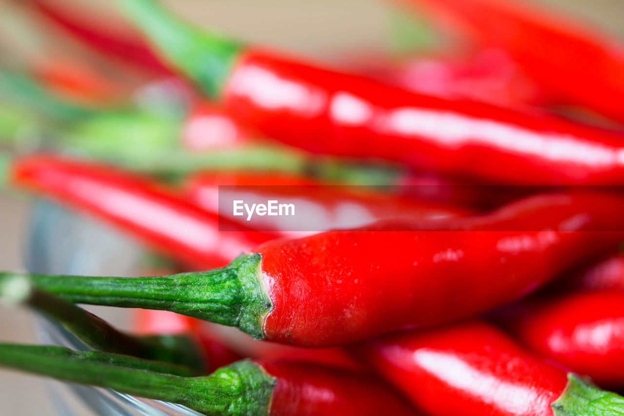 red, vegetable, close-up, red chili pepper, pepper, chili pepper, still life, spice, food and drink, no people, food, green color, selective focus, indoors, freshness, focus on foreground, large group of objects, backgrounds, multi colored, healthy eating